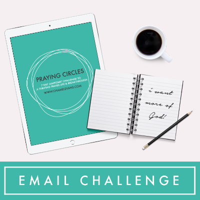 FREE 7 Day email challenge for a thriving prayer life | Faith-infused resources and products to help you on your faith journey | www.chamelevans.com