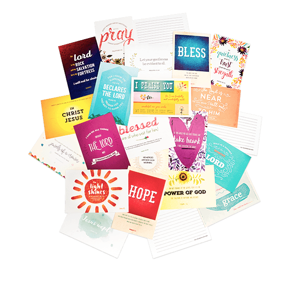 Spread God's love in a creative way   The Hope Deck™ is a collection of 60 inspirational Bible  verse postcards with custom artwork on every card! | https://hopedeck.com