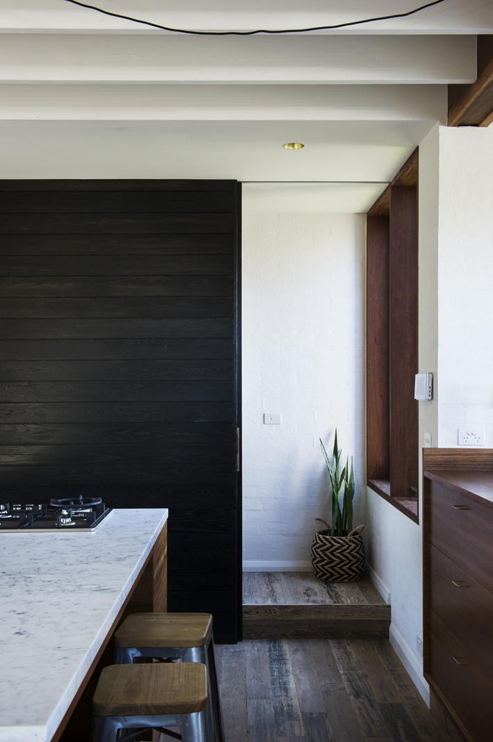 hidden staircase to master retreat