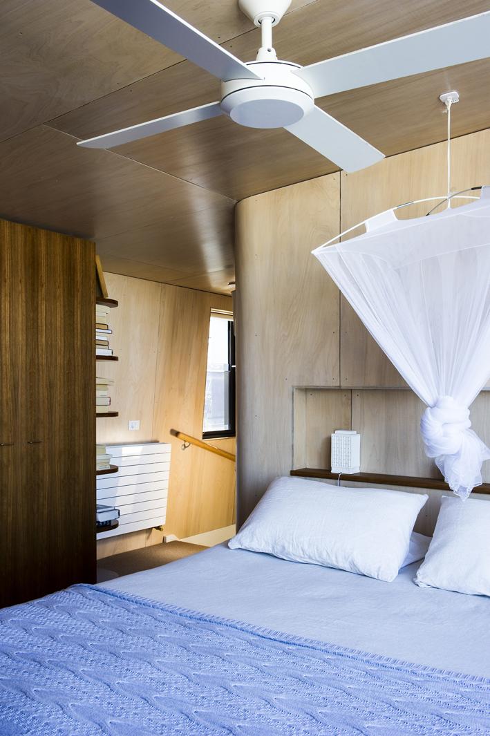 master retreat - mansard level,internally wrapped in plywood