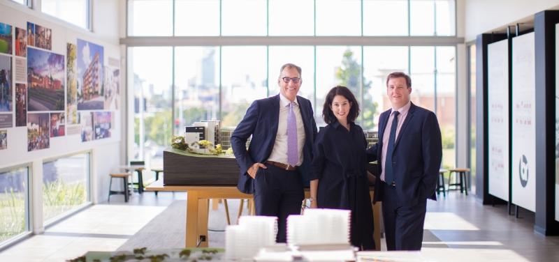 Mark Stockwell, Katherine Visini and Nathan Andersen