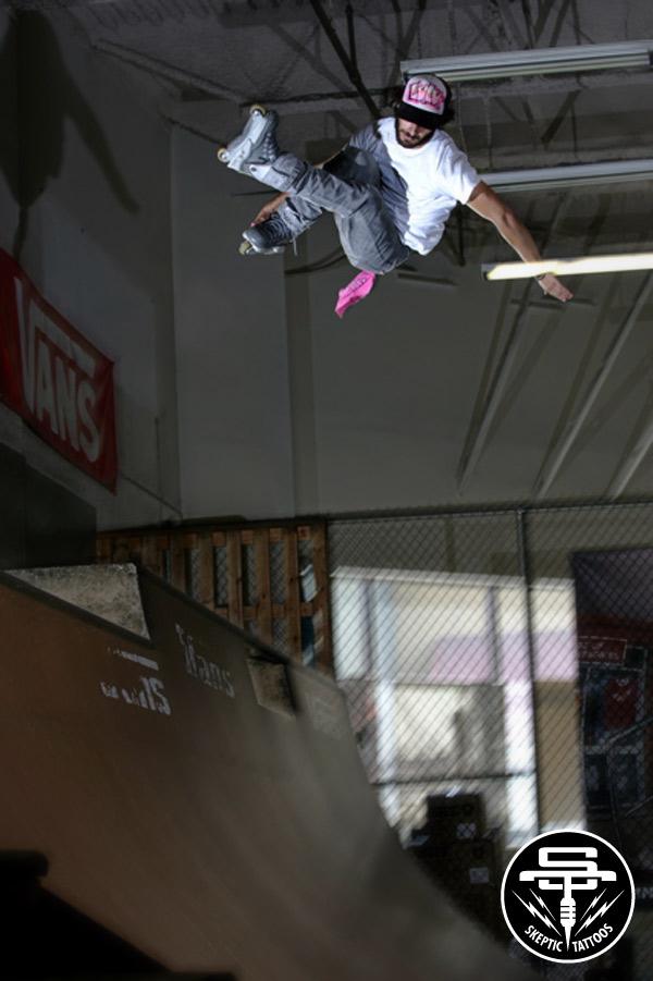 Arlo at Vans Skatepark in Orange, CA. Photo by Jess Dyrenforth.