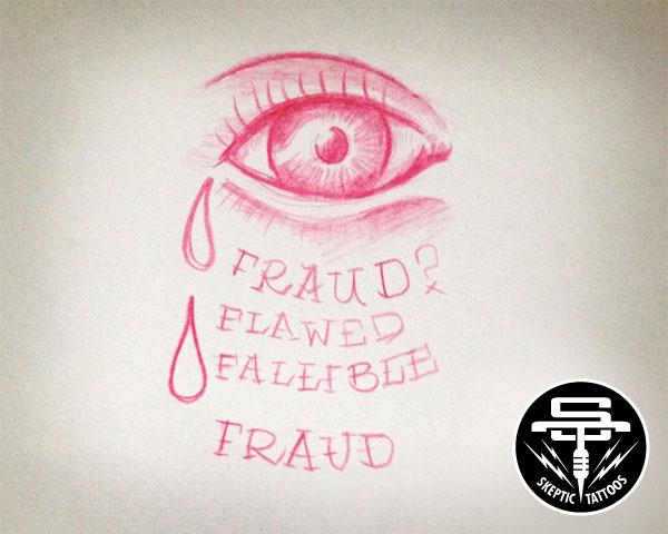 """Skeptical Eye"" tattoo concept."