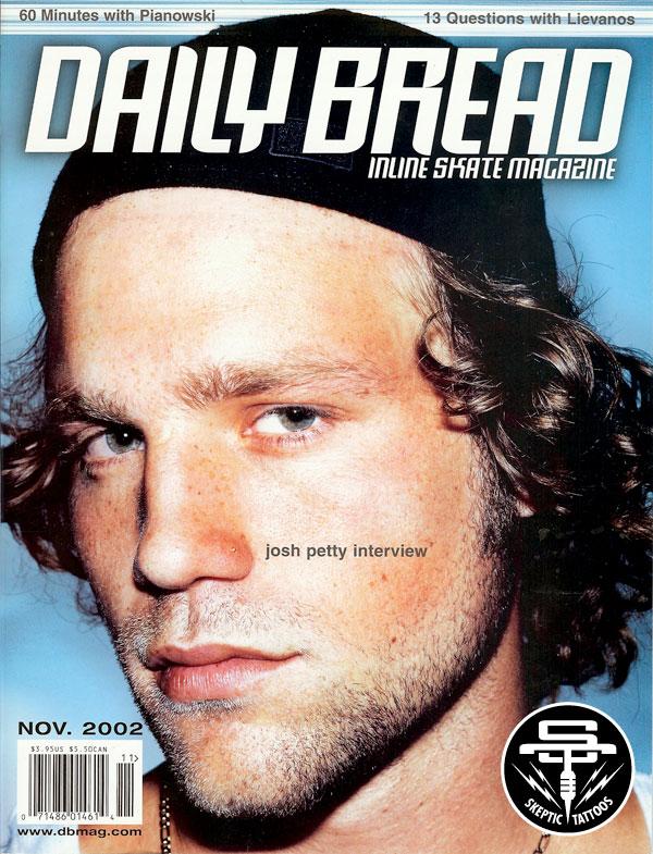 Josh Petty on the cover of Daily Bread Magazine, circa 2002.