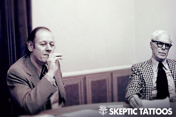 Paul Kurtz and Martin Gardner, circa 1979. Photo by Roberto Tenore.