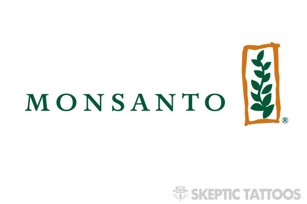 Monsanto's logo is not very punk rock.