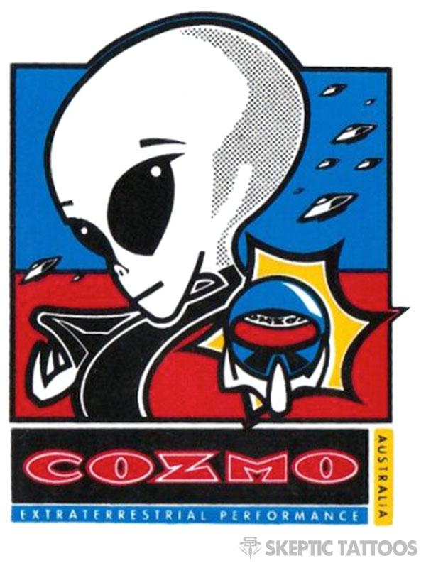 Cozmo Wheels sticker, circa 1990s.