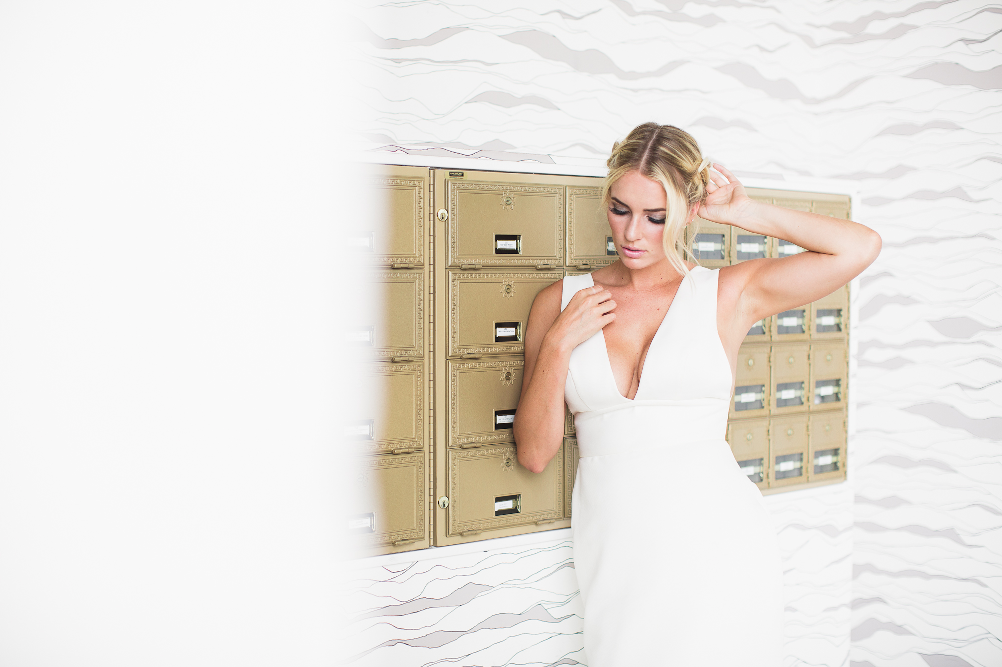 Our beautiful bride/model, Lauren pulling off the  Lezu  gown so perfectly