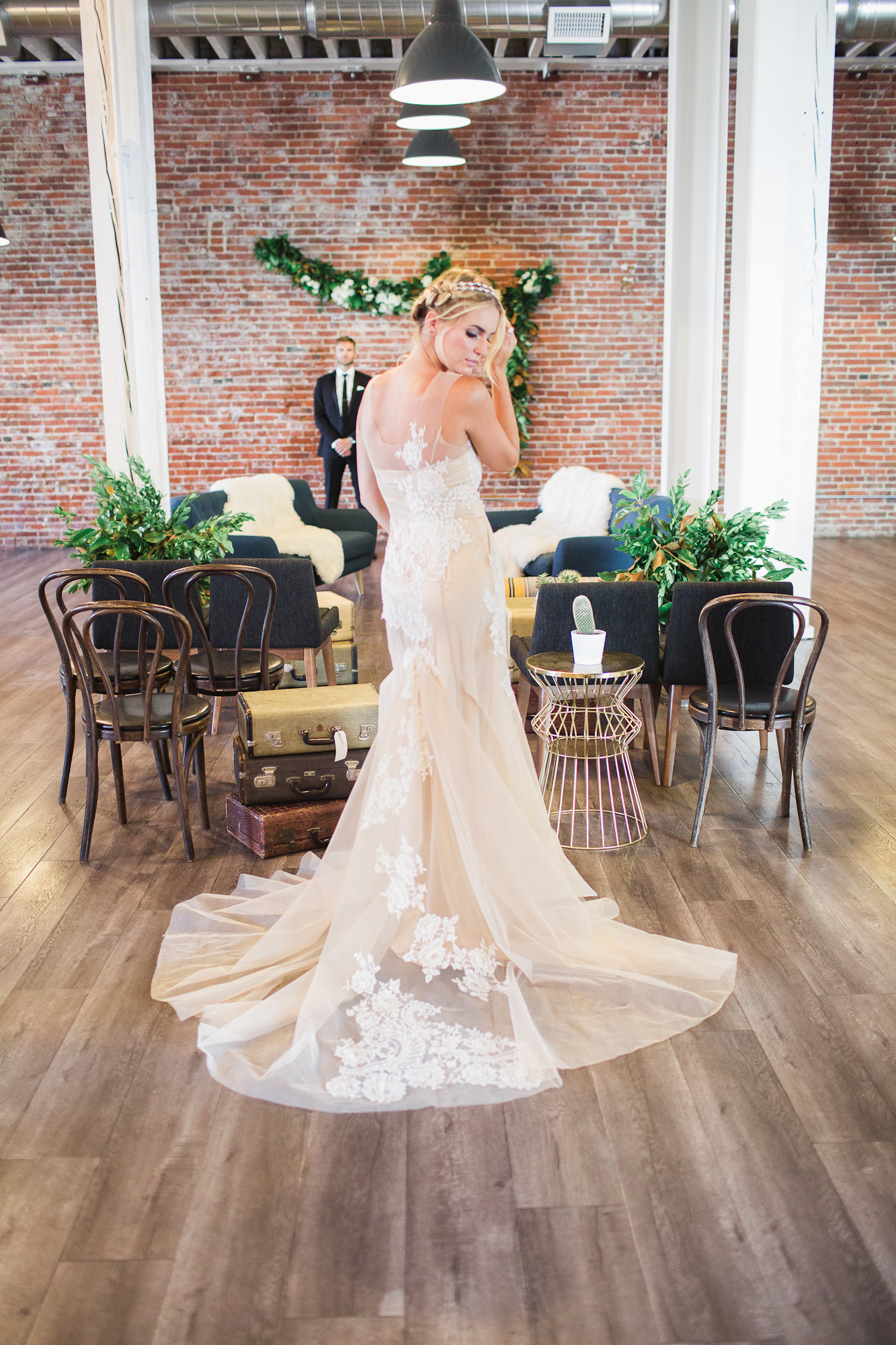 This wedding dress by  Lezu Atelier  is one of my favorites by far!