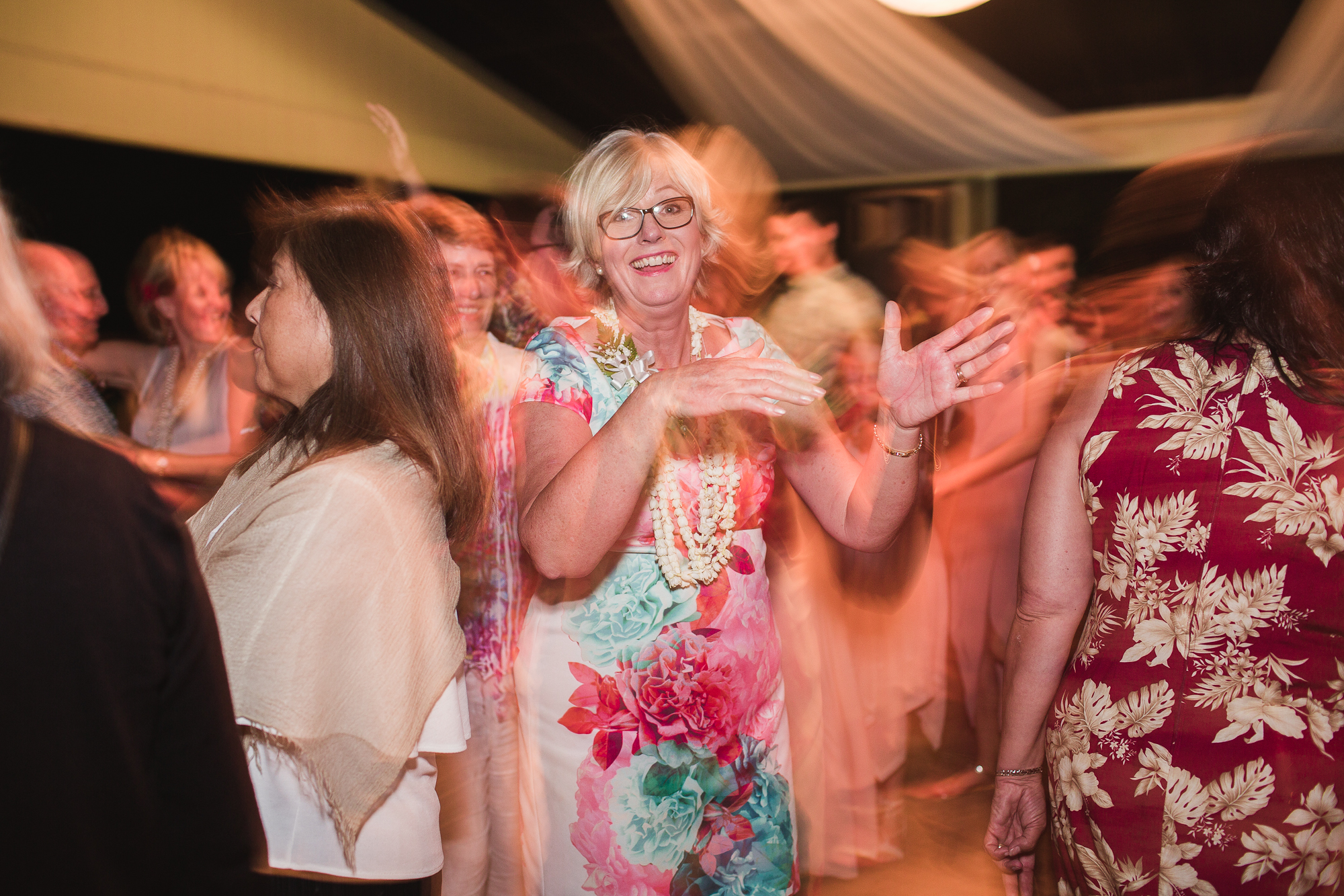 Lucy's mum getting down on the dance floor!