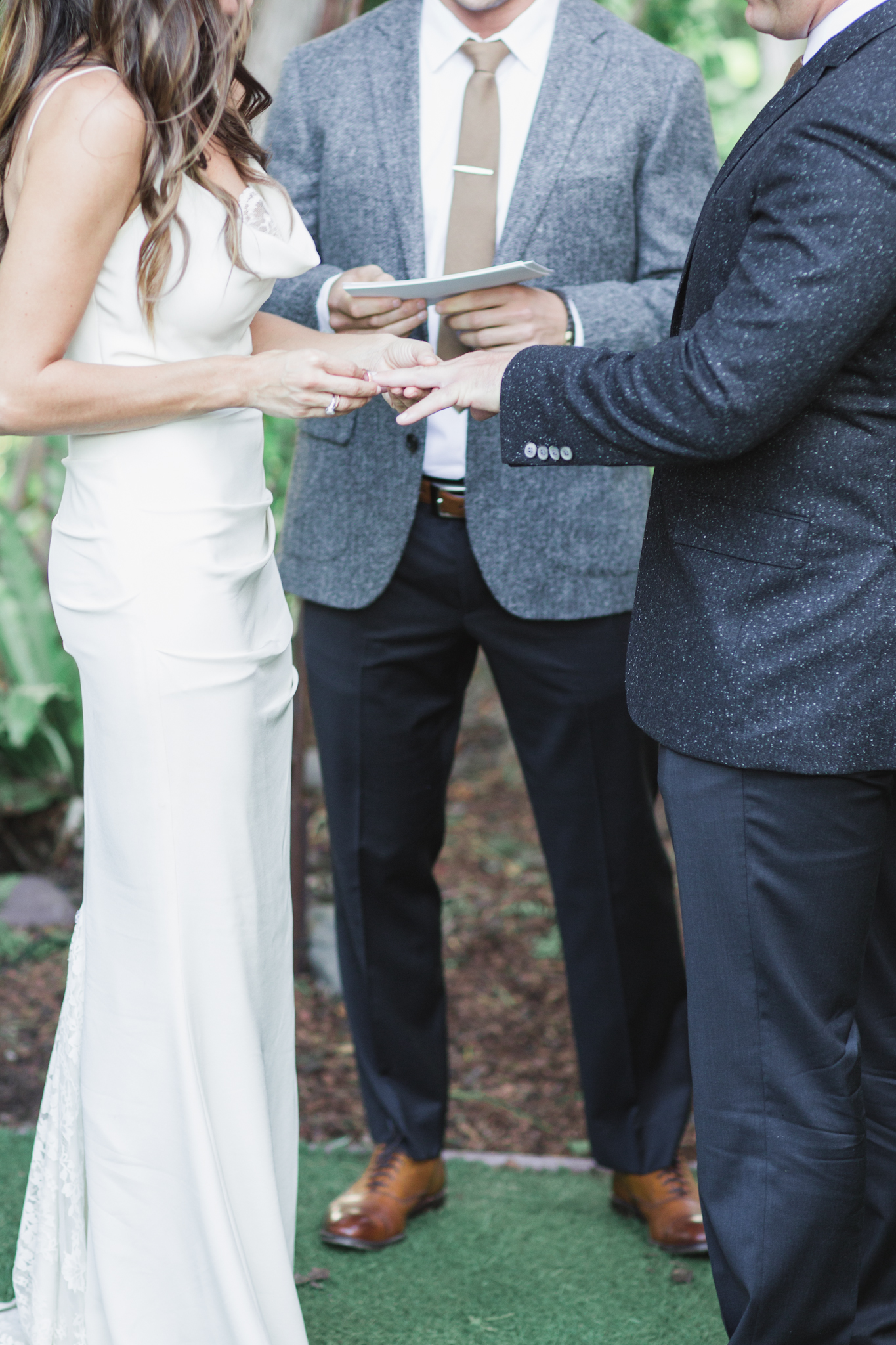 Exchanging their vows and saying their  I Do's