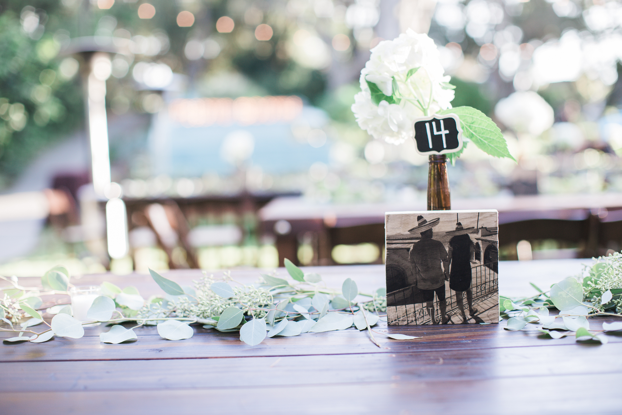 The perfect table numbers. D + H have a tradition of taking these back photos everywhere they travel.