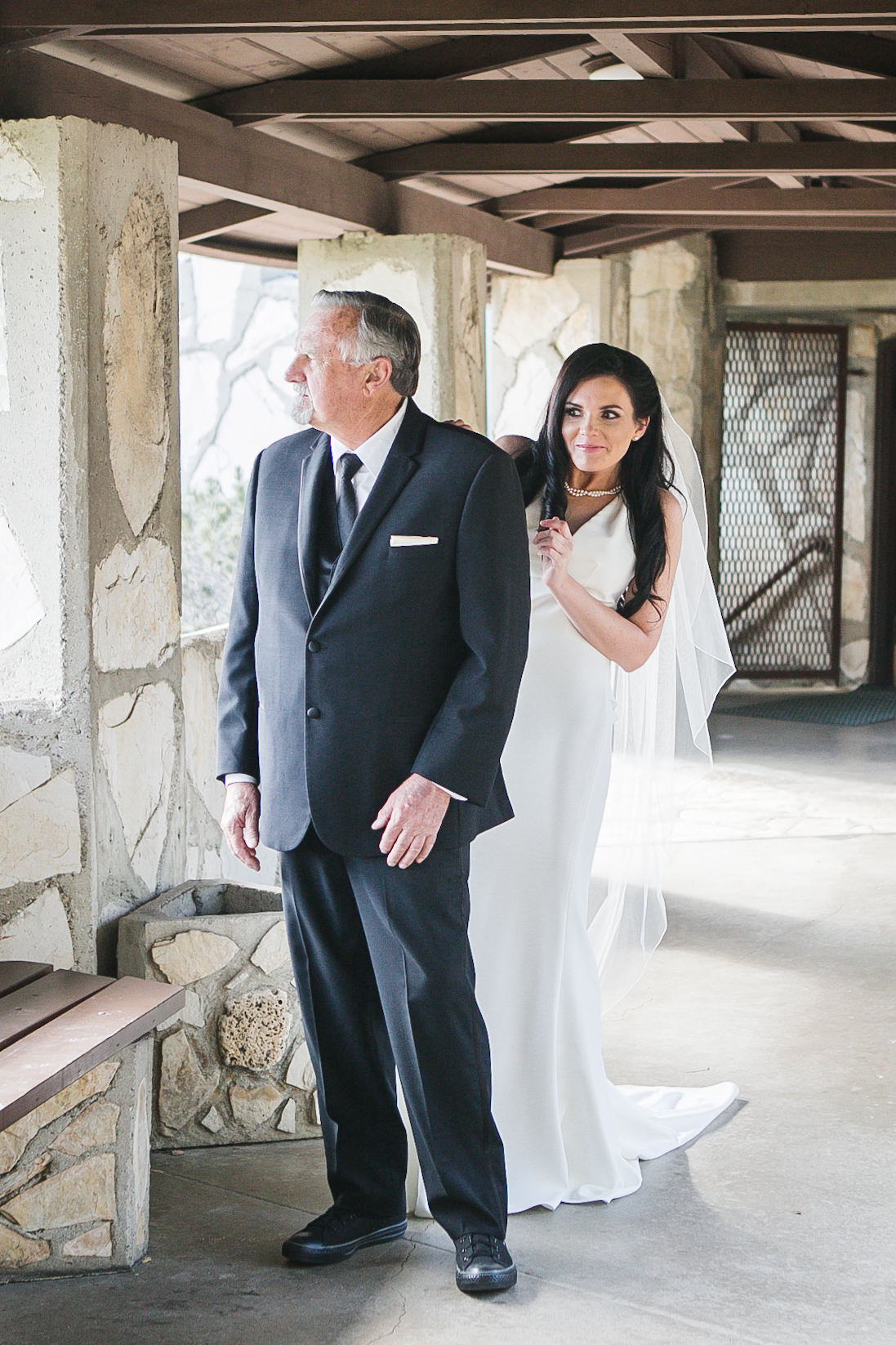Stephanie wanted to do a 'First-Look' with her pops and it was an emotional moment to shoot. The power of love between father-daughter was evident.