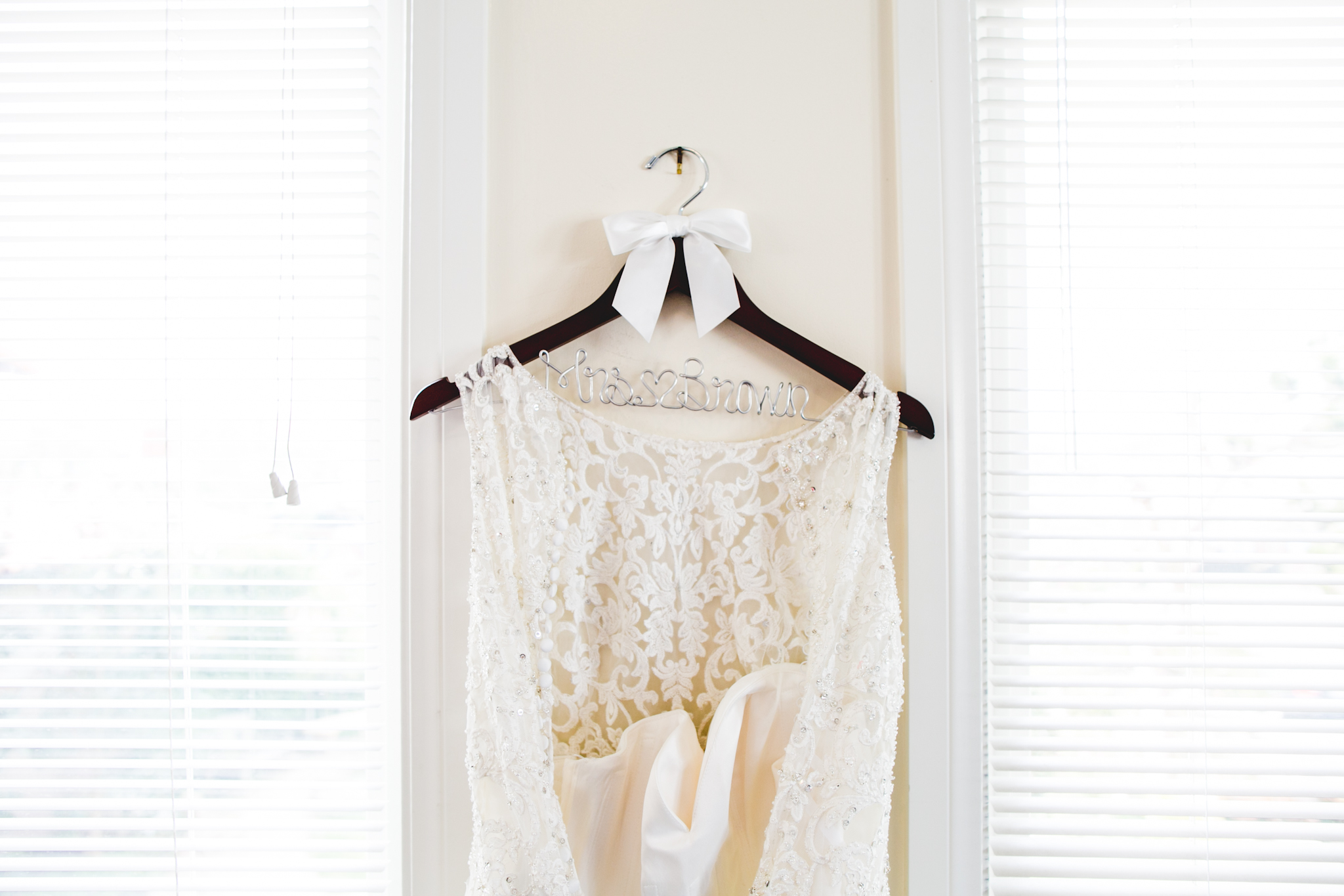 Mrs. Brown's wedding dress fitted her so perfectly--in style + in grace.