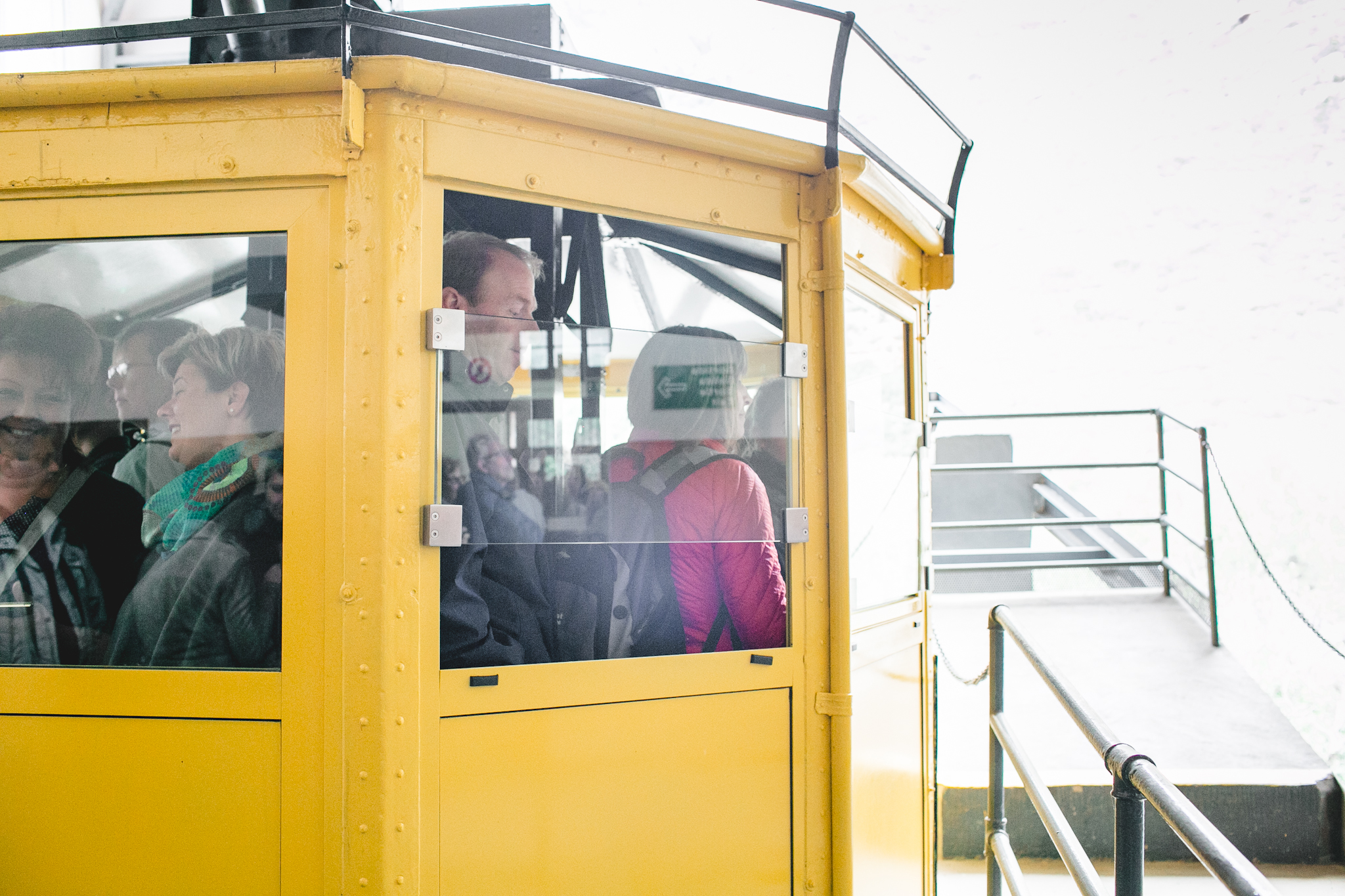 Loading us up on the cable cars