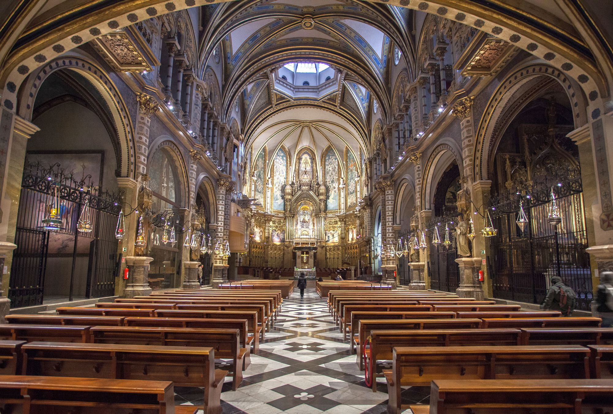 Not  my photo: This was inside the basilica