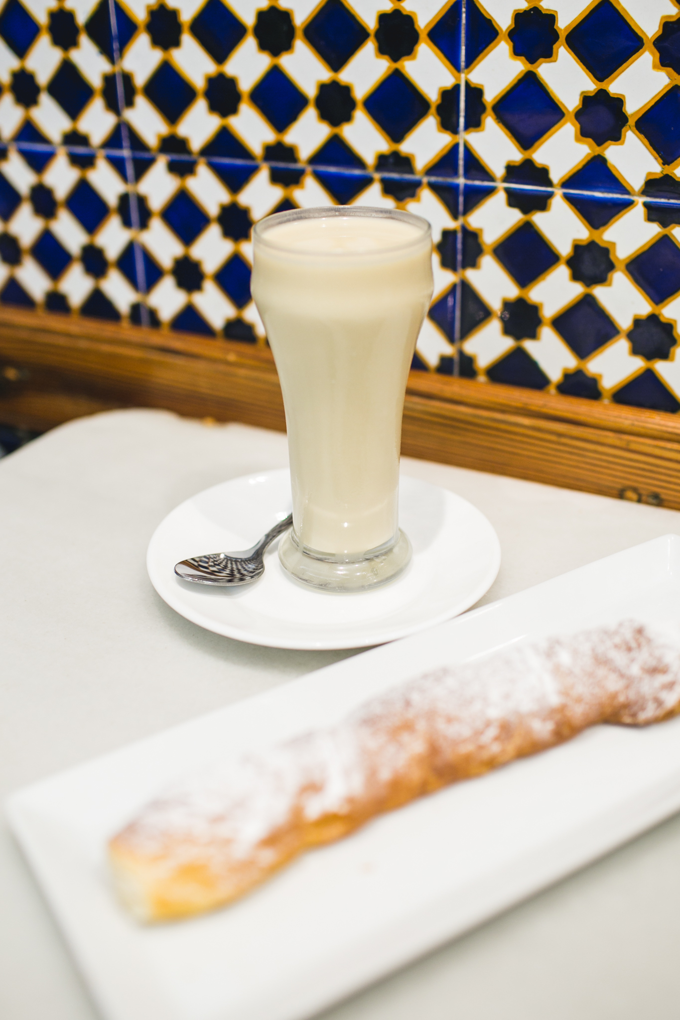 We also made a pit stop at the famous  Horchateria de Santa Catalina.  I'll be honest...I'm not sure I understand horchata. It tasted like milk with flour. That delicious piece of powdered bread though...Pretty damn good.  Thanks for reading! Stay tuned for the Part III travels to Seville, our favorite city.  xoxo, Hannah Q.