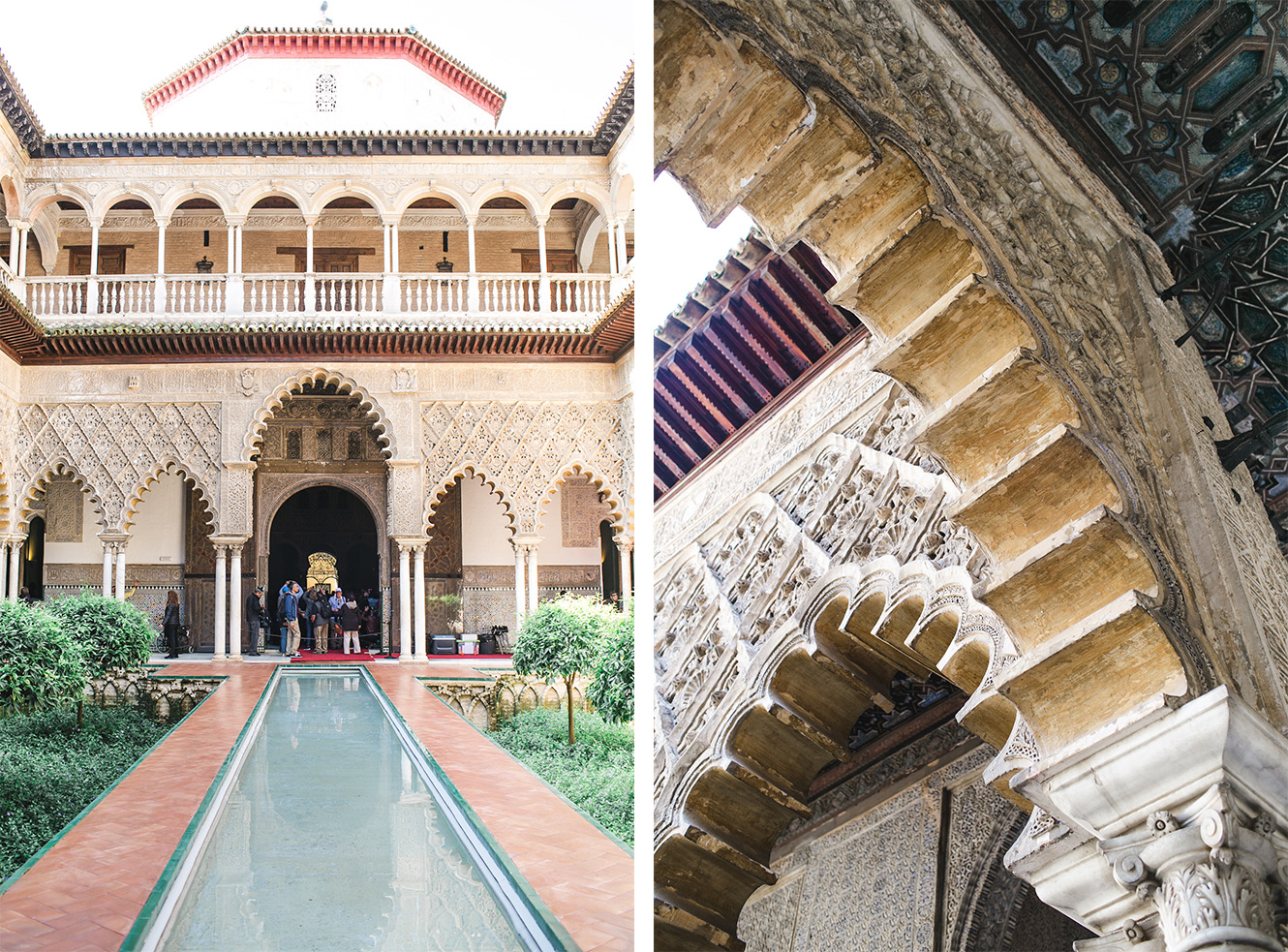 The Real Alcazar! An ancient palace for royals built in the 10th century also Water Gardens of Dorne scene from Game of Thrones.