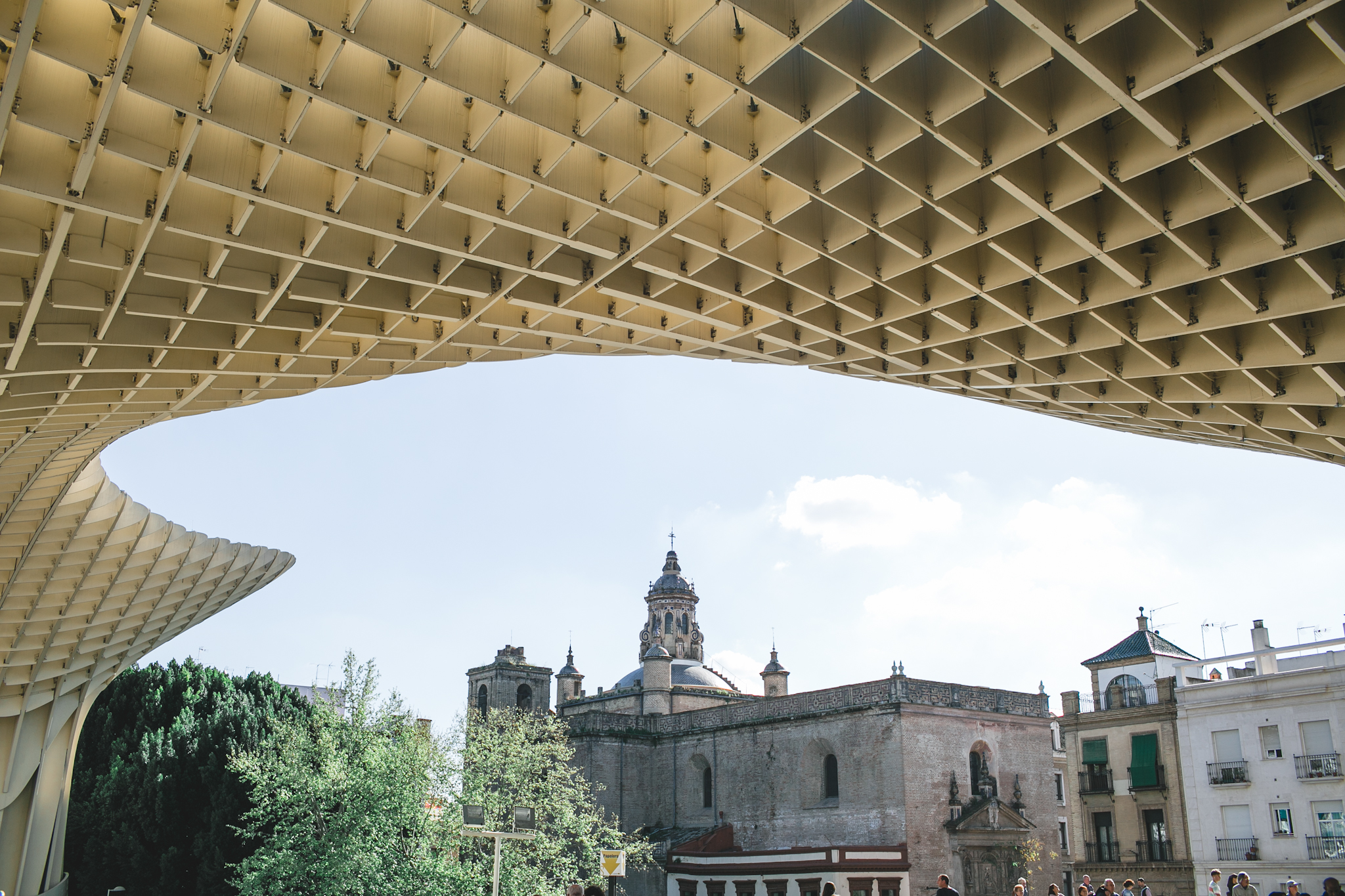 I wasn't so sure how I felt about this new modern structure sitting in the middle of beautiful old town Seville.