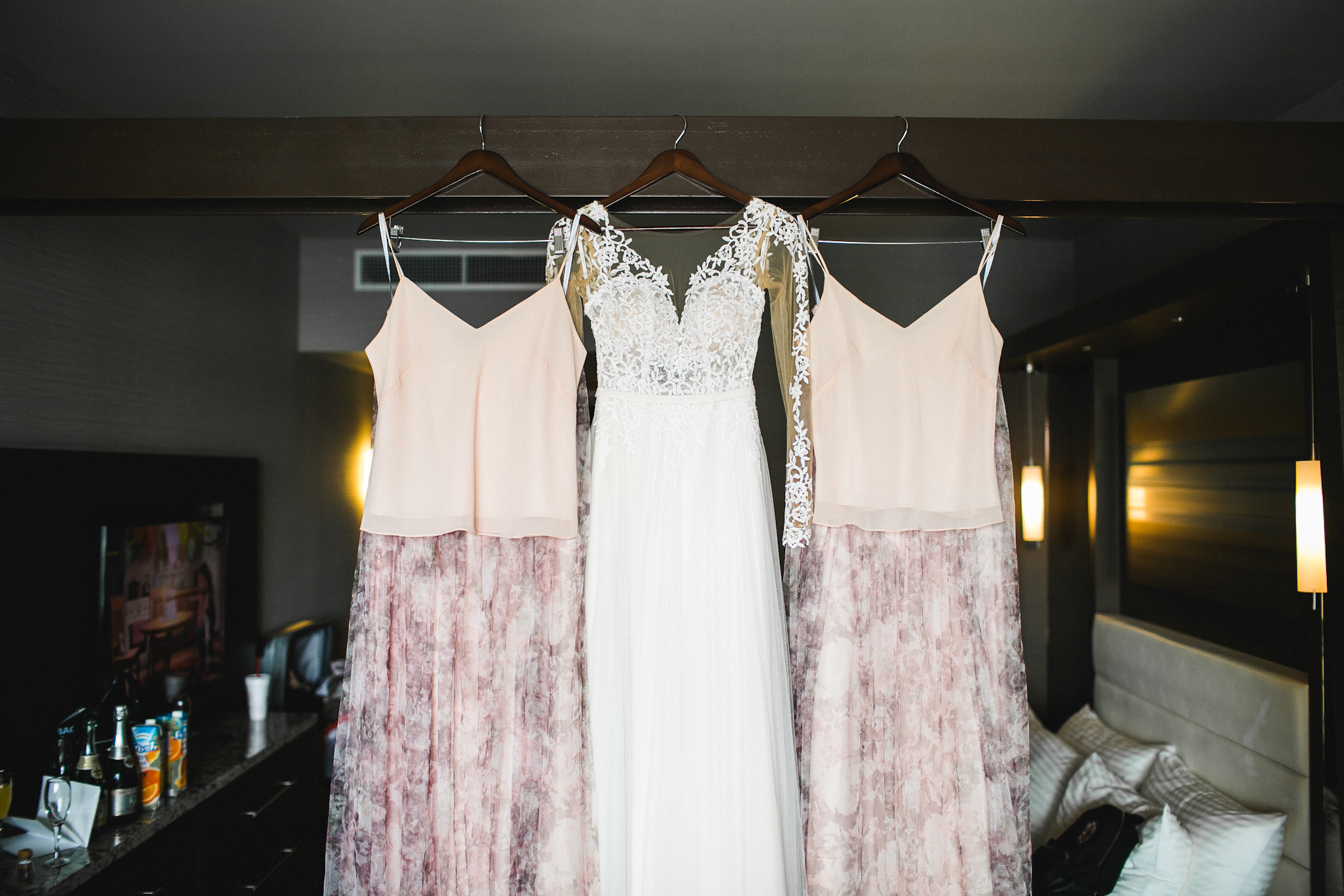 Jessica had EXCELLENT taste. These two piece bridesmaid dresses AND her wedding gown was AMAZINNNGGG.