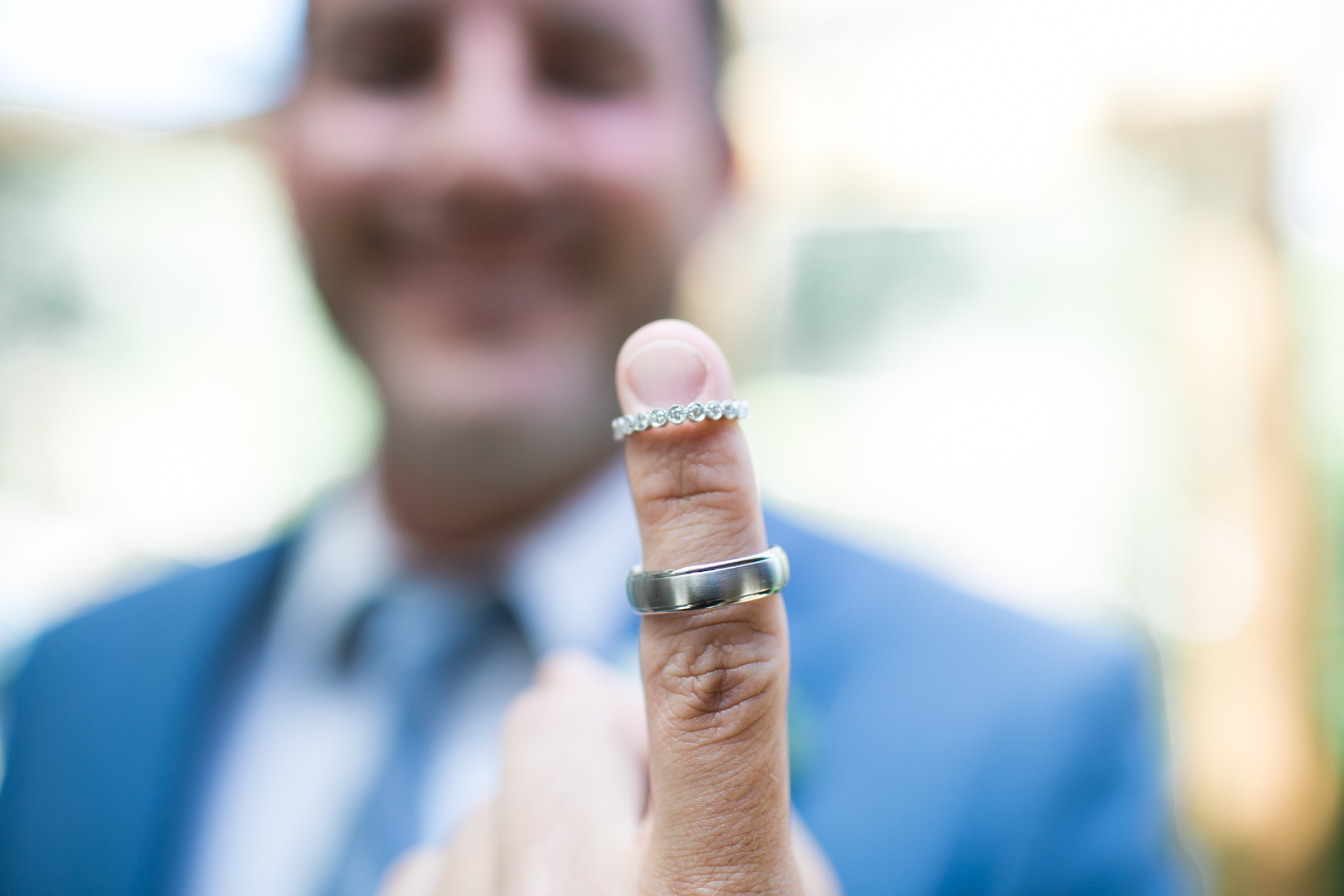 Best man looking as proud as ever to be standing by his brother with these pretty rings