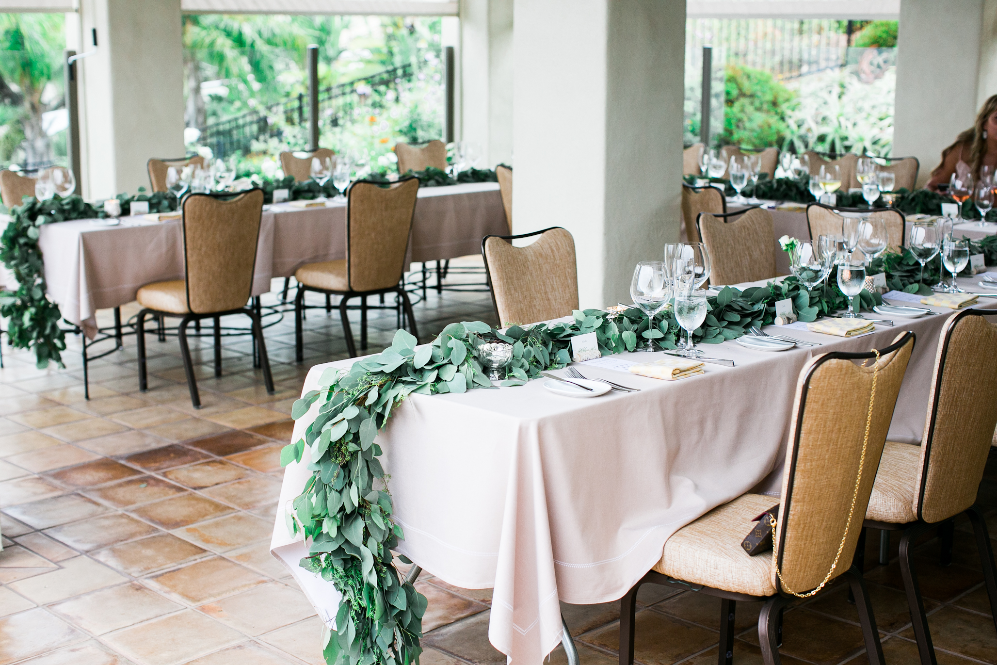 Jessica and and her bridesmaids decorated this beautiful dinner area all by themselves. So beautiful.