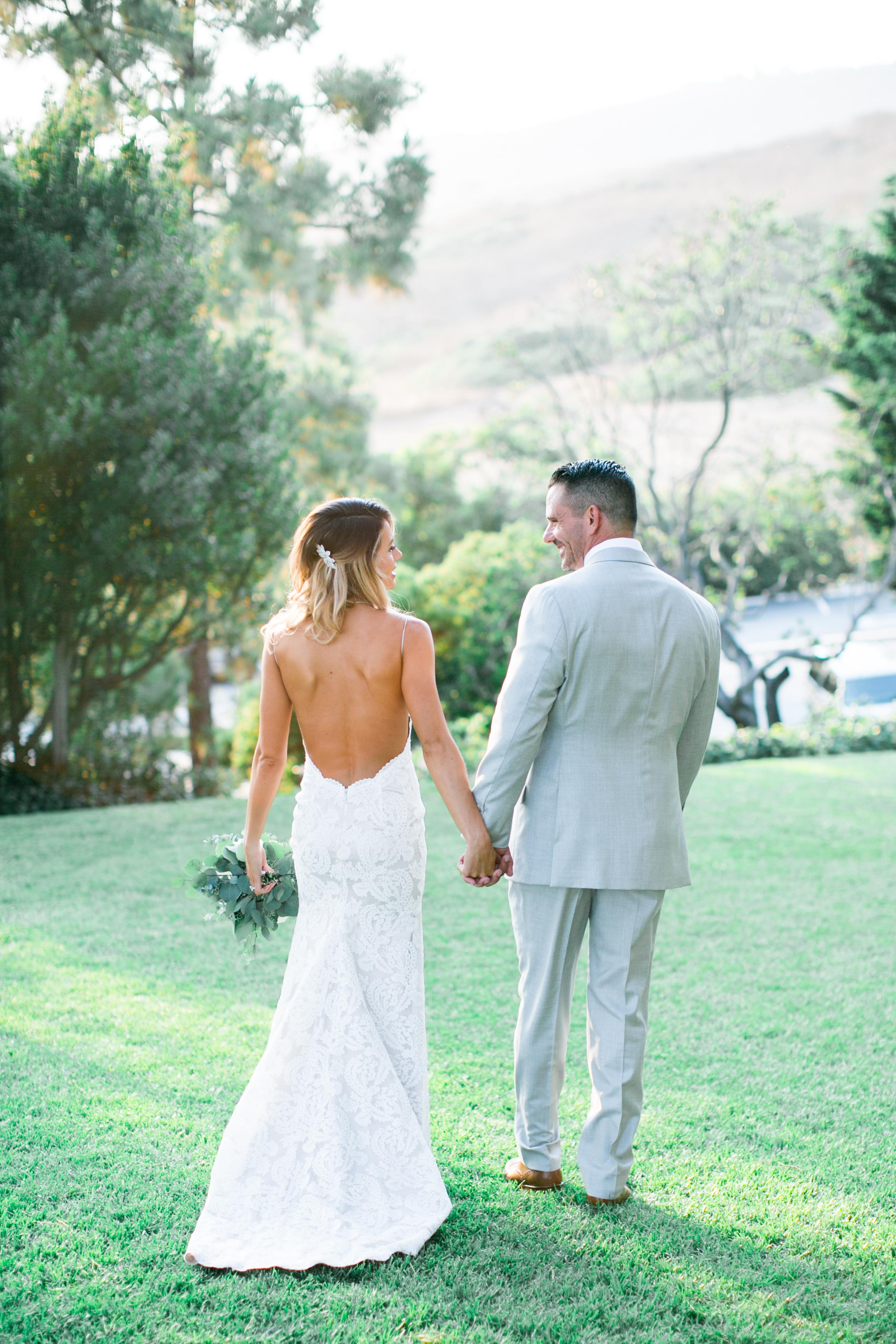southern california romantic wedding