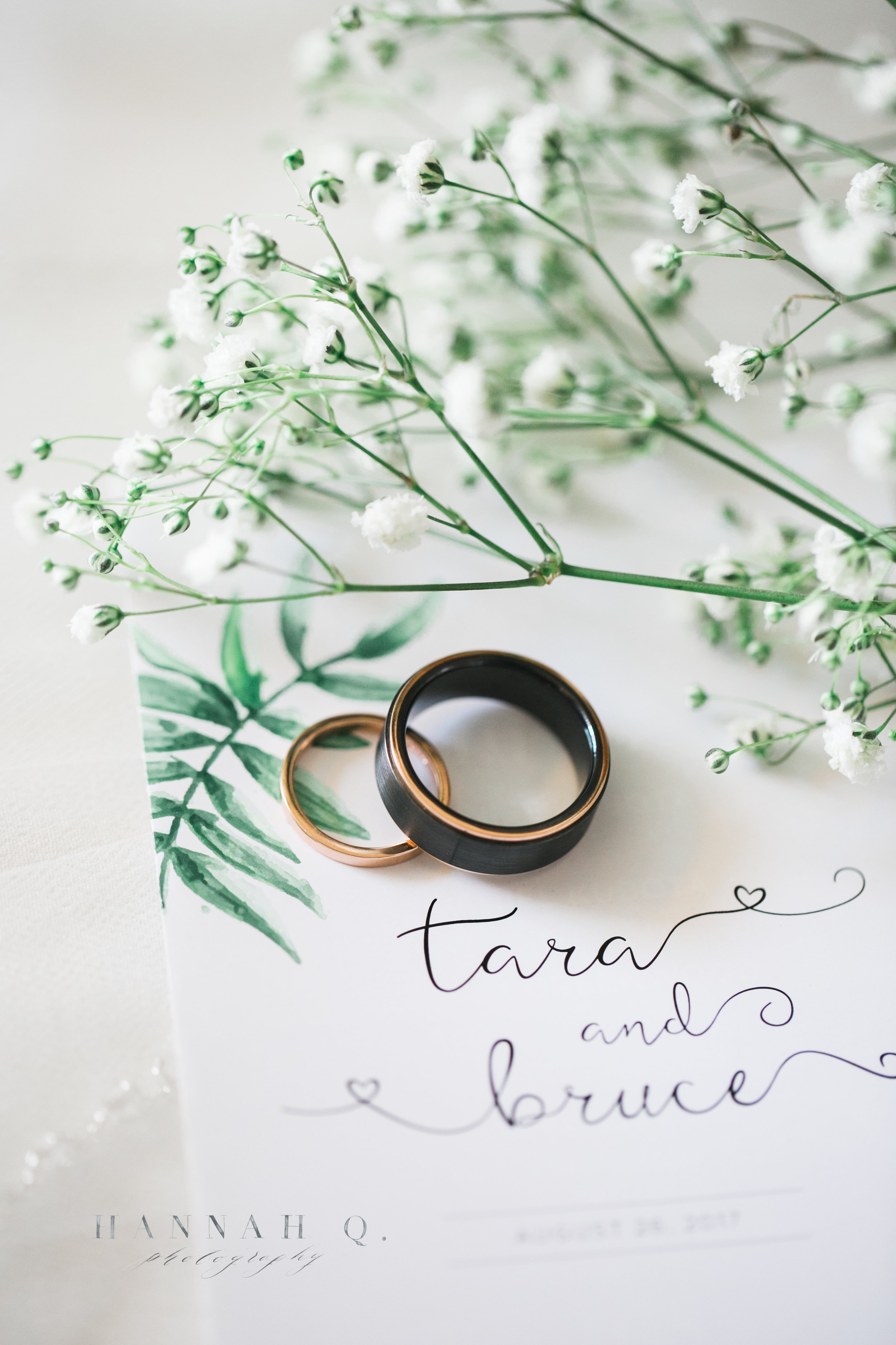 I love our Tara + Bruce added touches of green and foliage to their wedding day.
