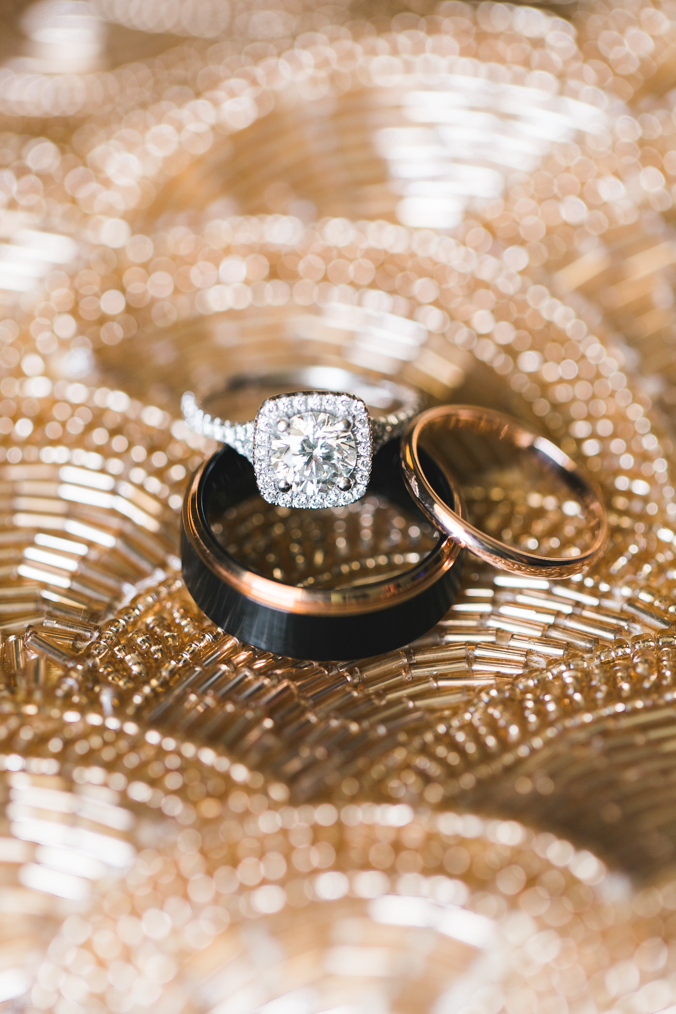 Loved their ring choices. A whole lotta diamonds and a touch of rose gold.