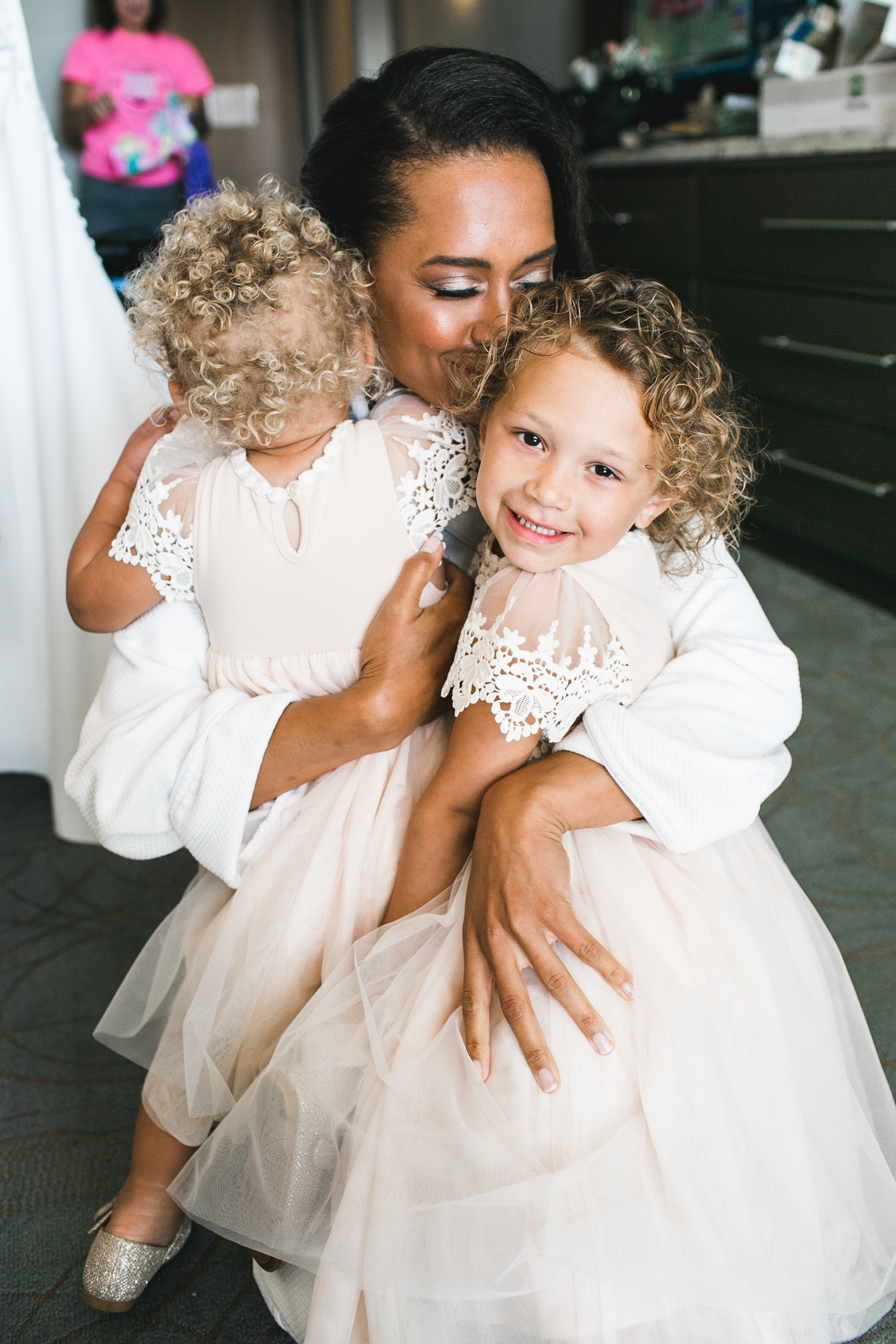 How cute are her darling nieces! Their shoes! Their dress! I can't.