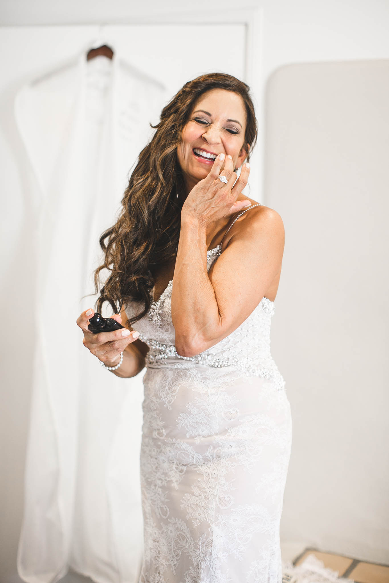 In all her excitement to get married, she accidentally sprayed perfume in her mouth
