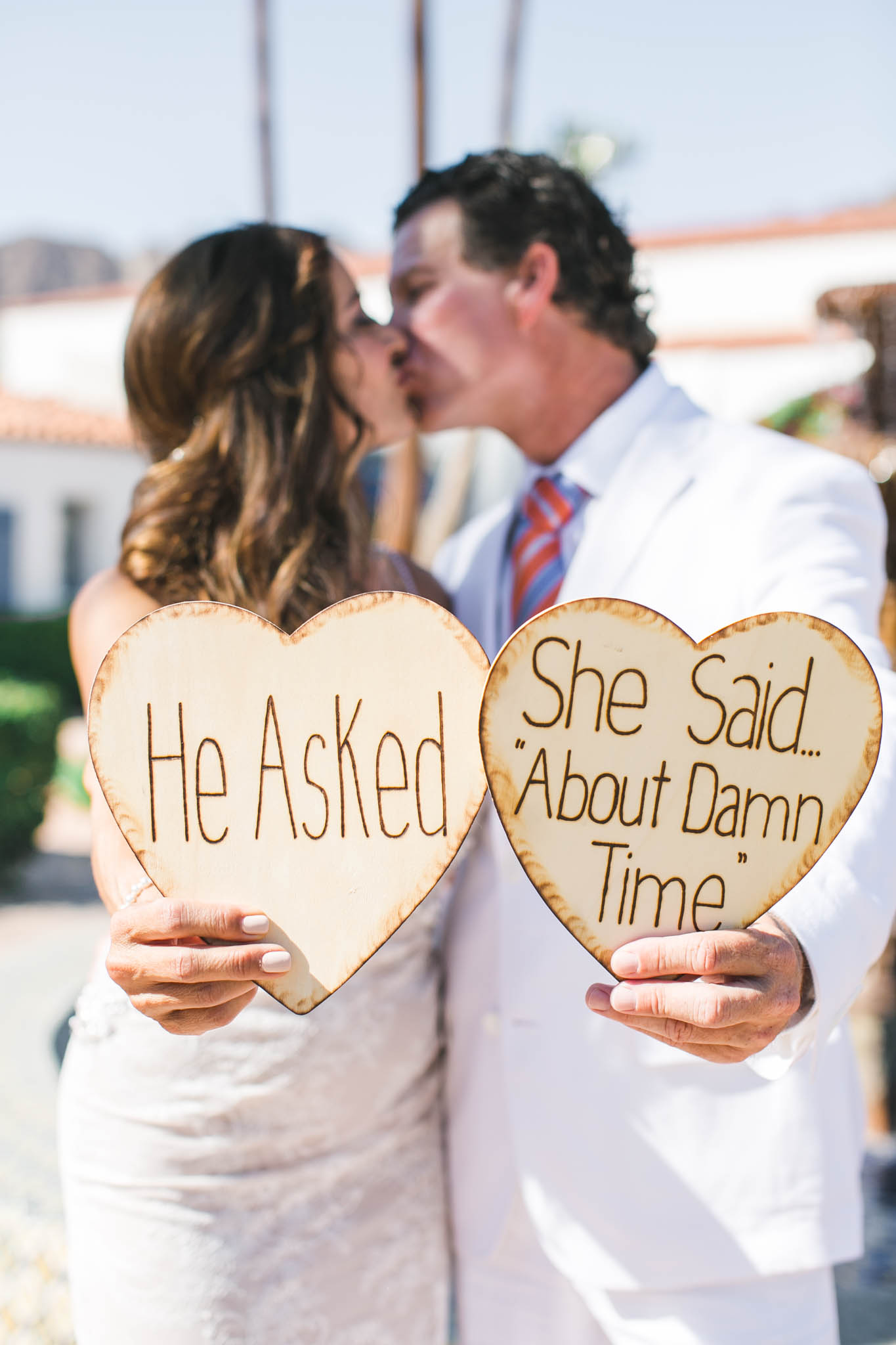 He asked, she said about damn time wedding photos