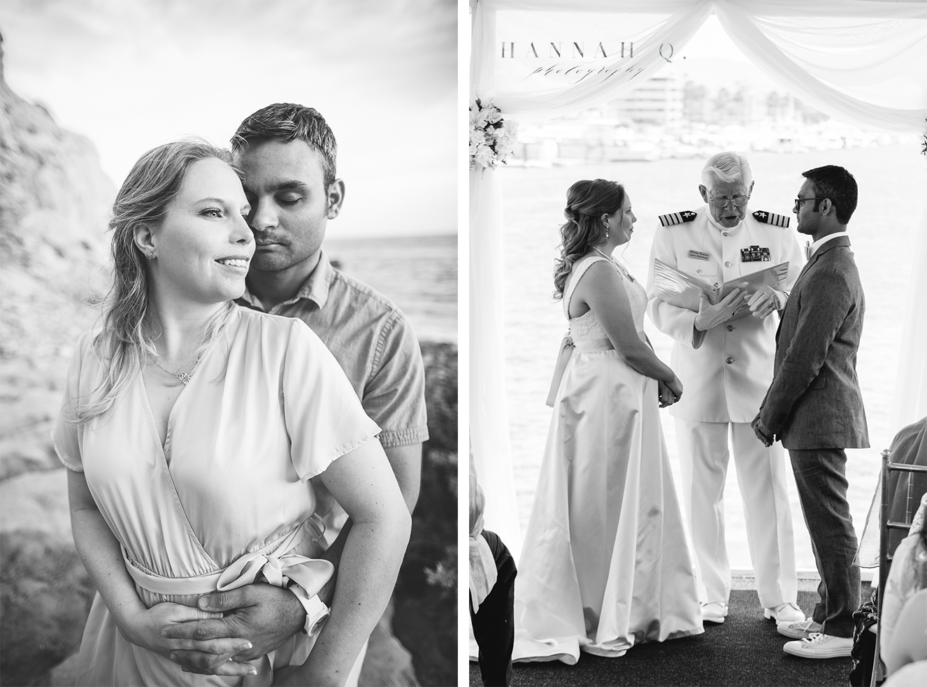 I got to take Amy + Muneel's engagement photos and then witness their marriage on a boat!