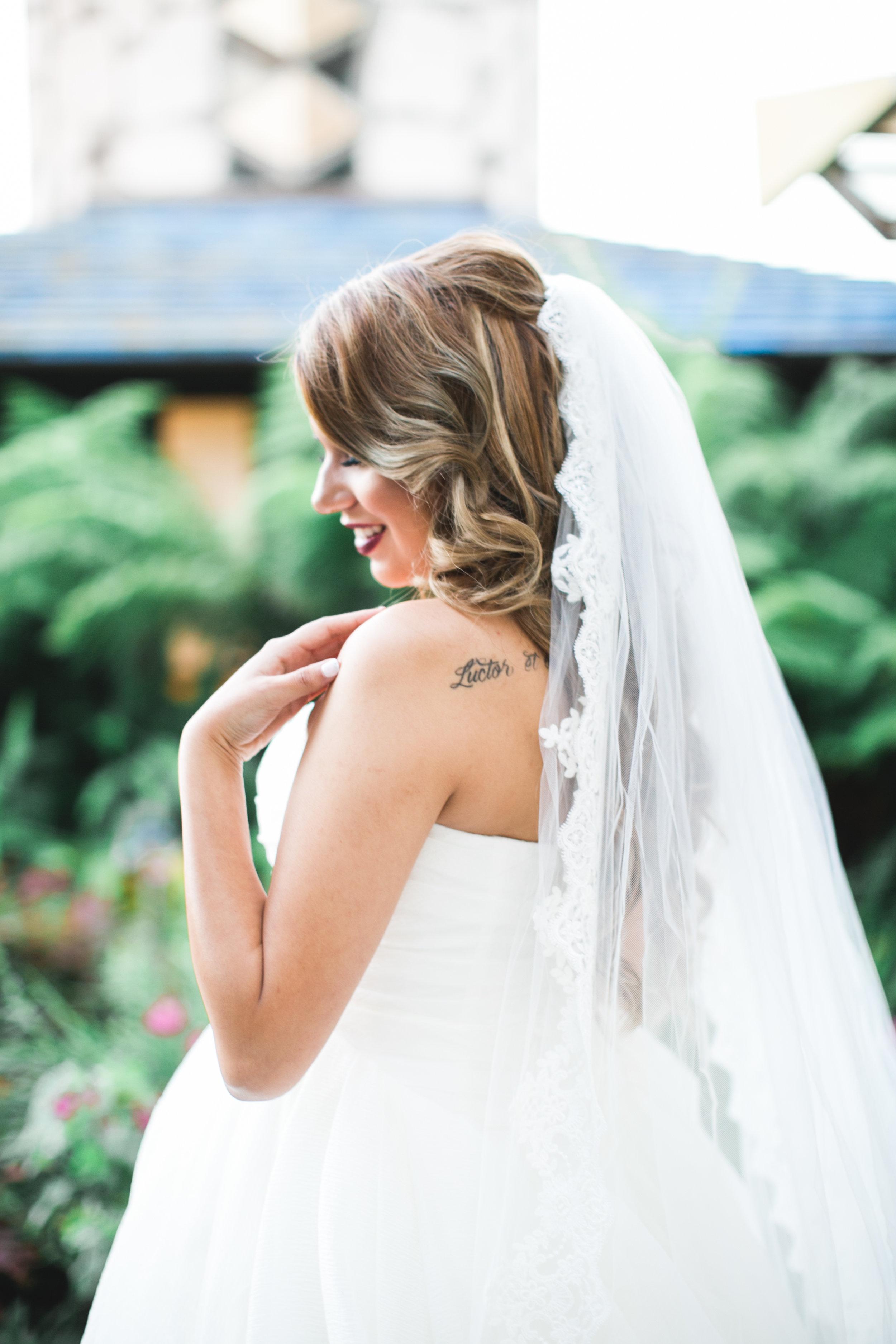 The most beautiful pregnant bride I'd ever seen.