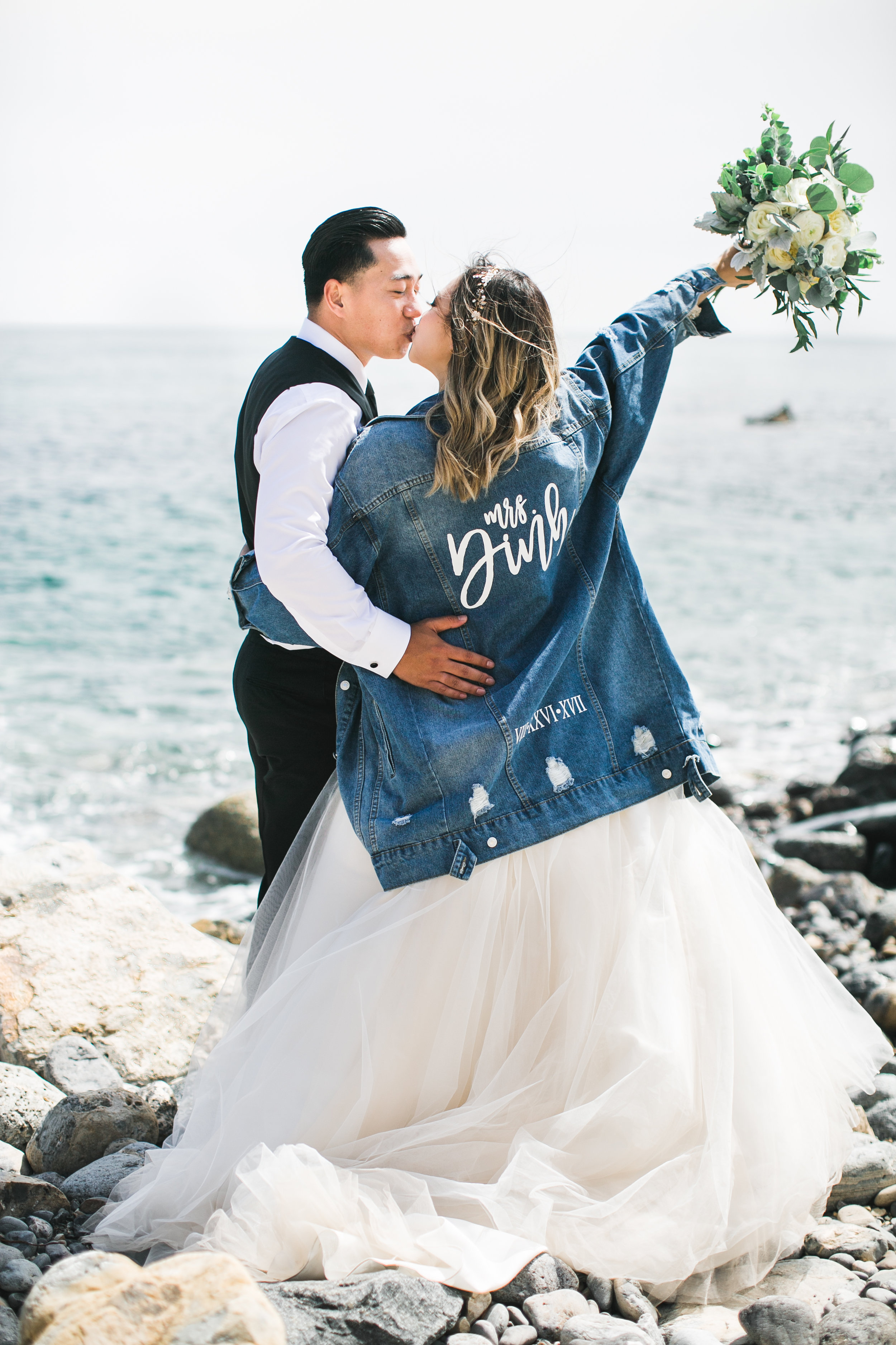 Obsessed with Tara's idea of the 'Mrs.' denim jacket!