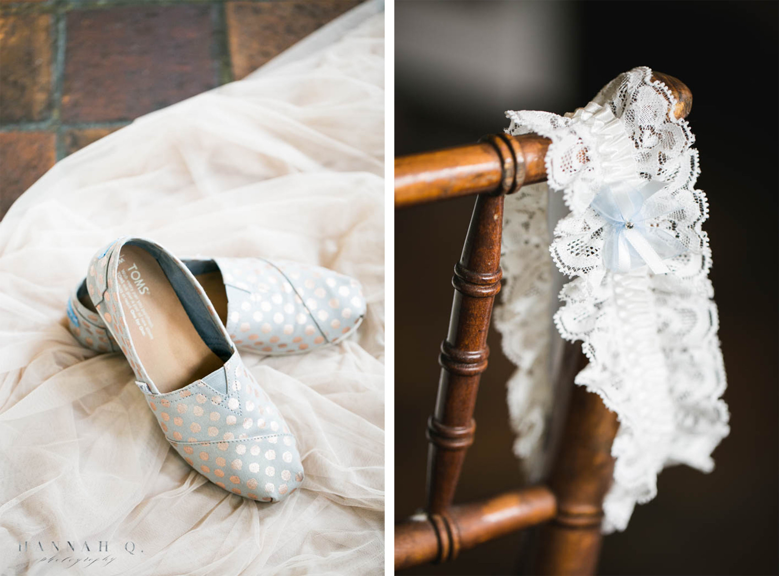 Loved so much that she was wearing these comfortable Tom's. I've seen more and more brides choose comfort over looks.