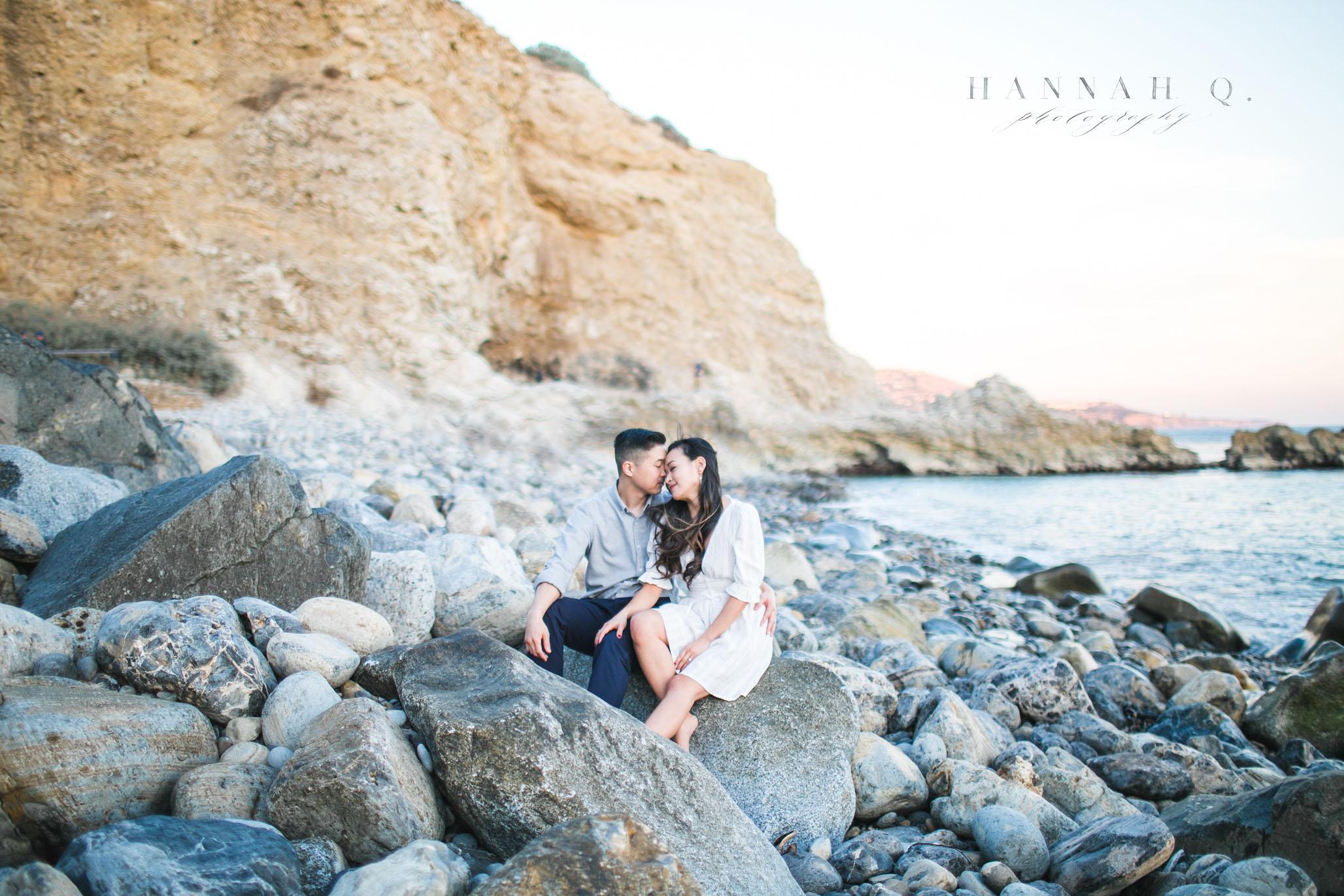 terranea cove engagement photoshoot