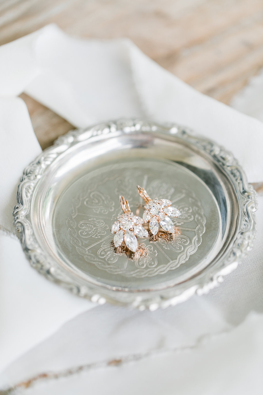 The most perfect wedding earrings from  Petite Delights