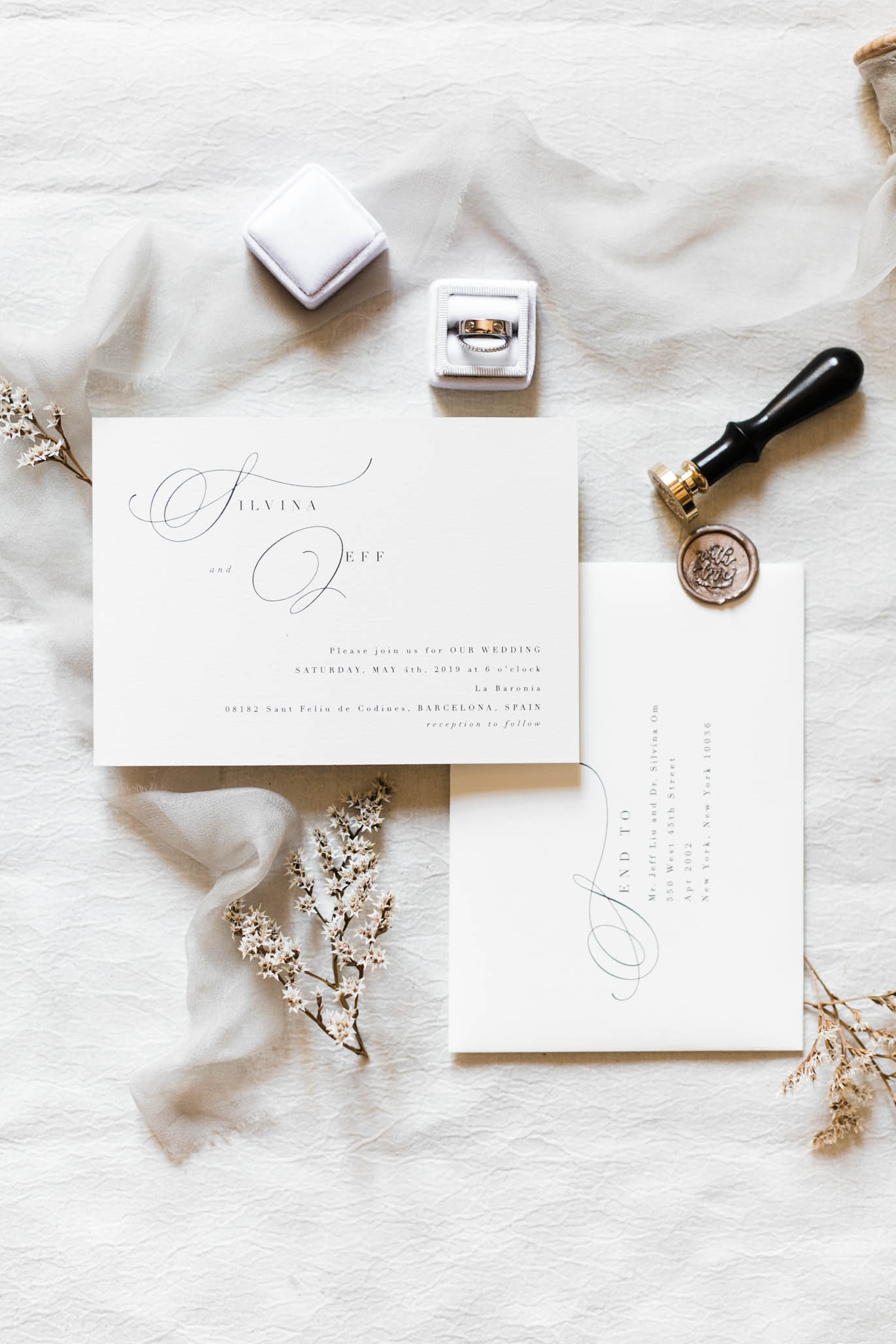 They went with pretty simple yet elegant invitations and I loved every bit of it.