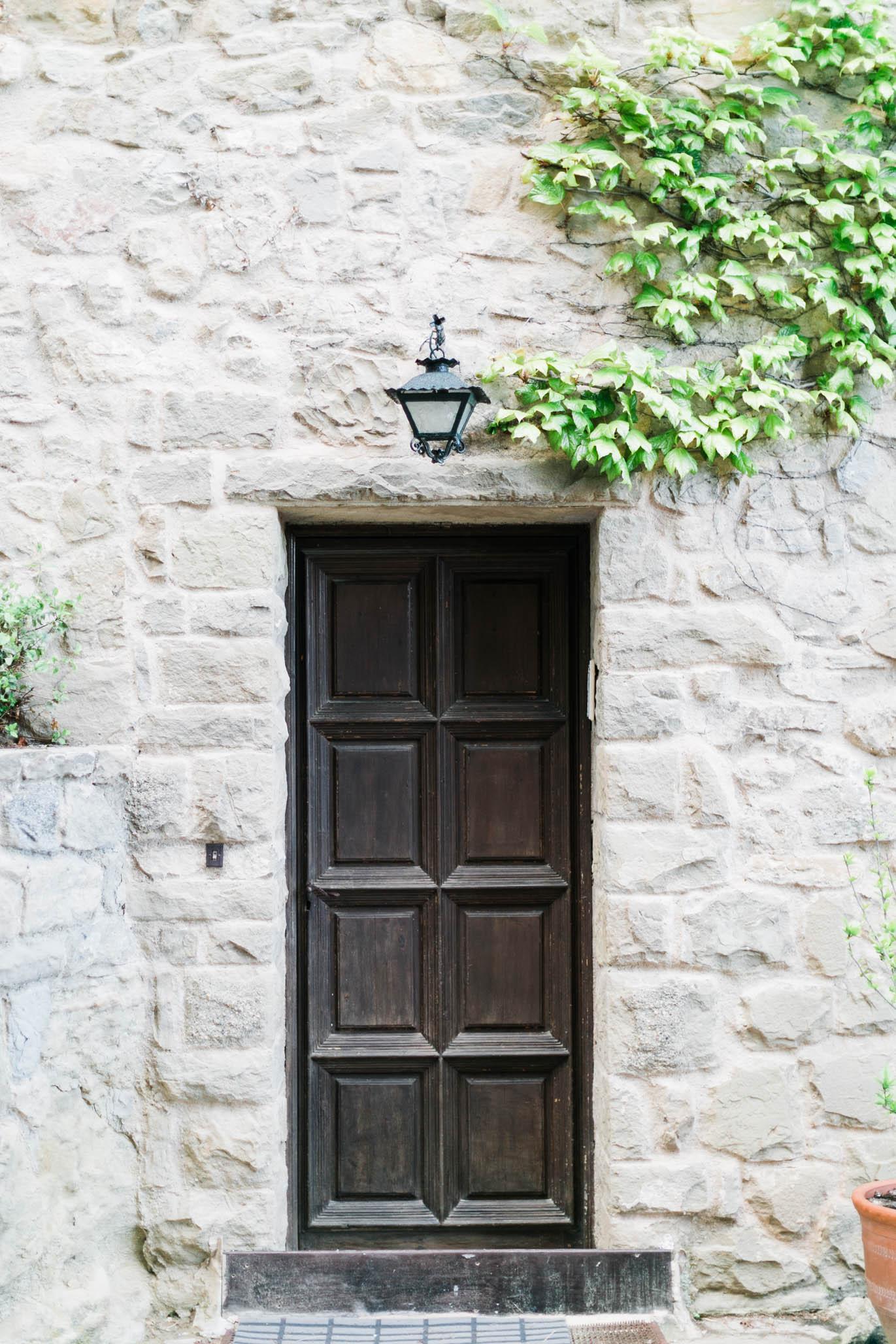 Mid-ceremony, this beautiful door distracted me.