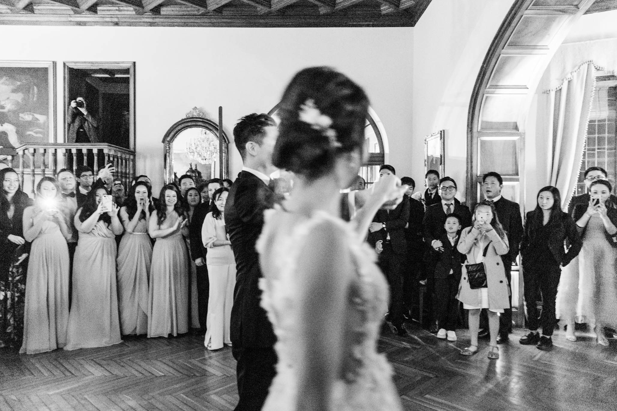 Reveling in their first dance as husband and wife.