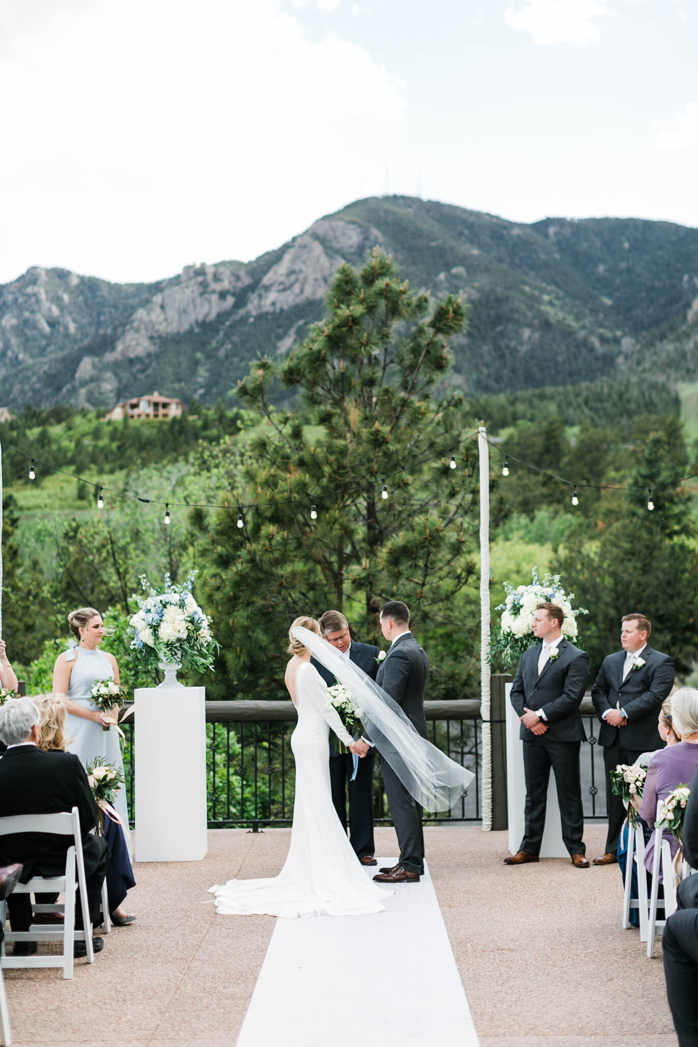 The mountainous backdrop was as breathtaking as their ceremony.