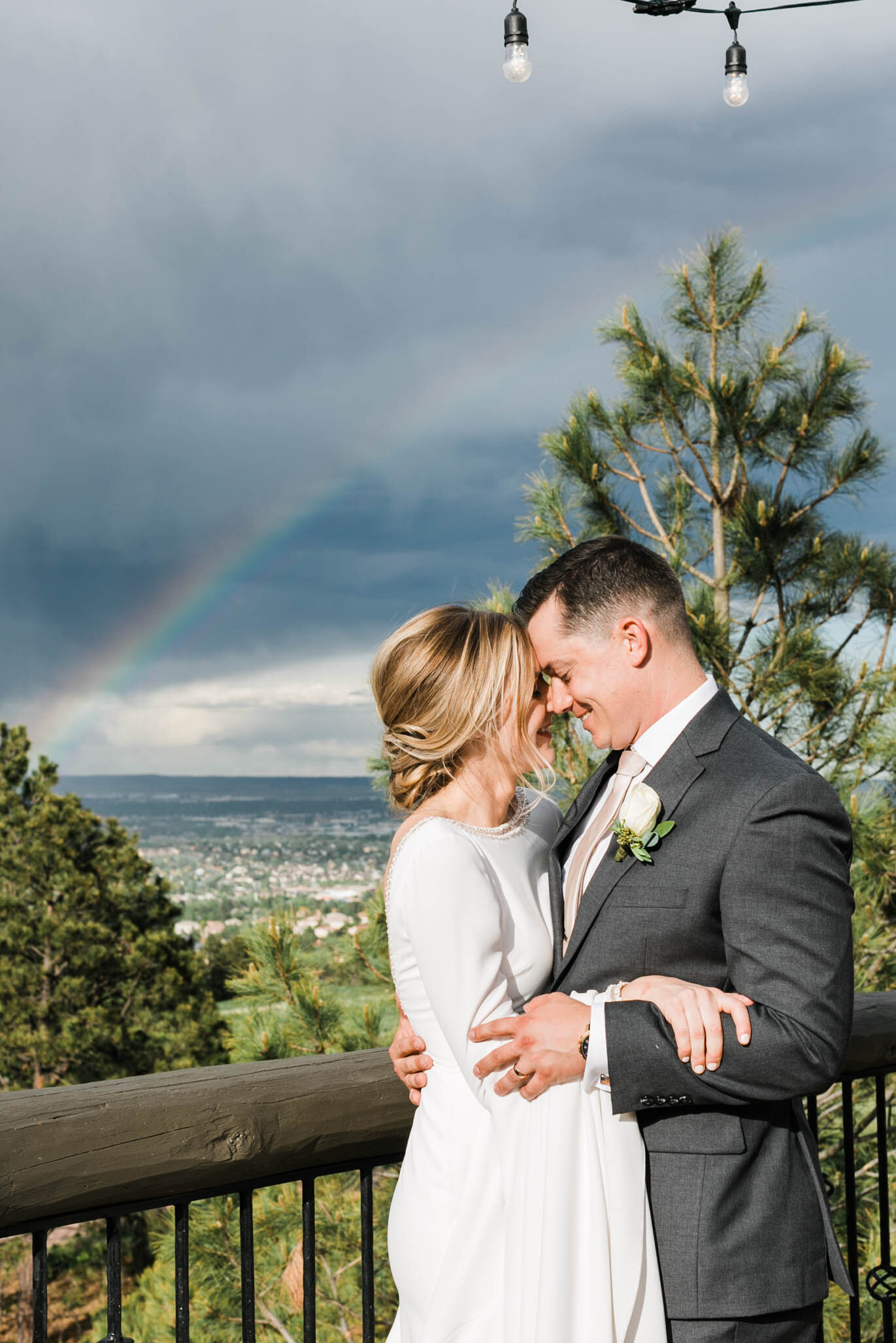 Immediately after the ceremony, this beautiful rainbow appeared across the sky.  Definitely a sign that these two were meant to be.