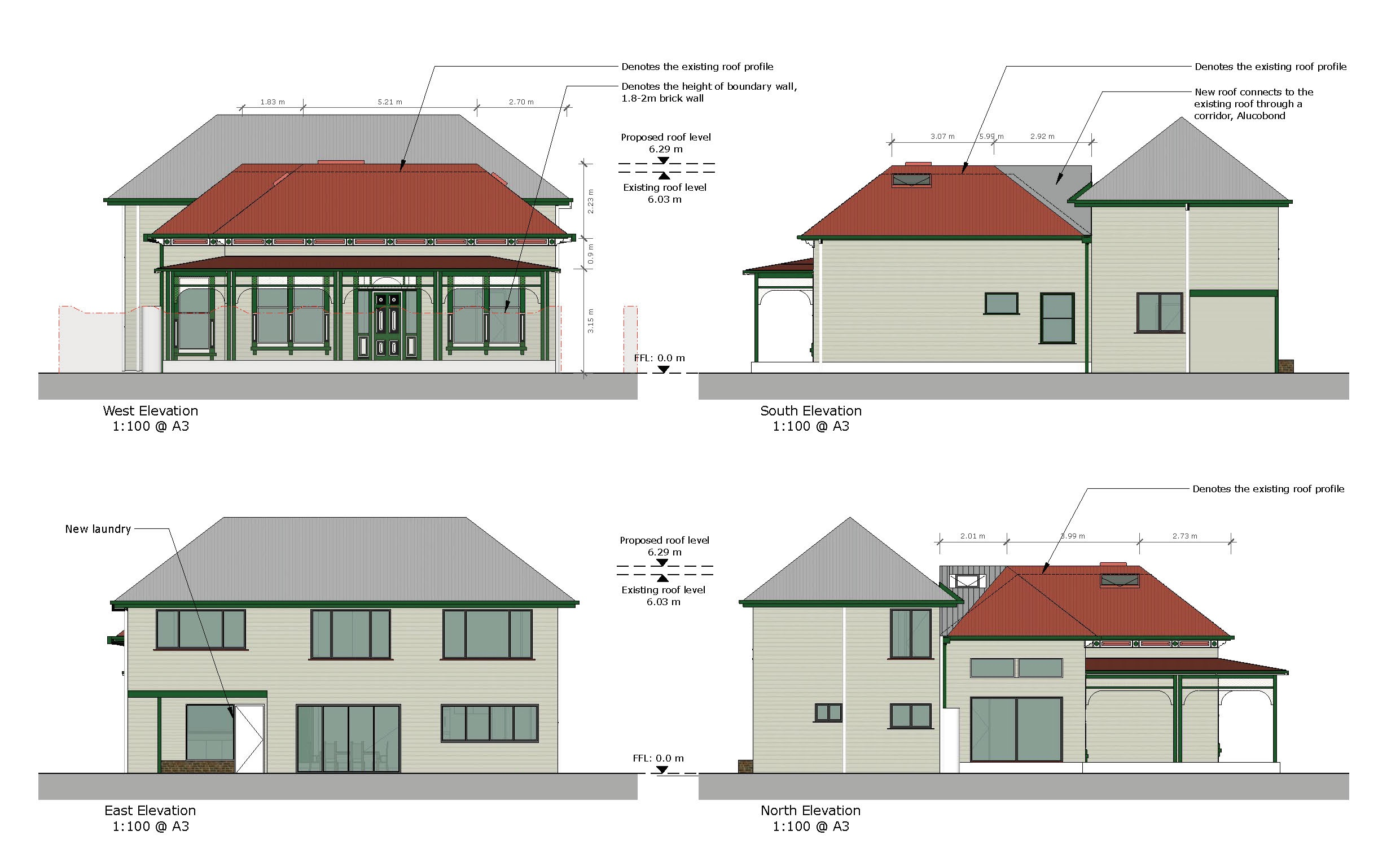 Heritage Architect Ballarat - drawings, elevations