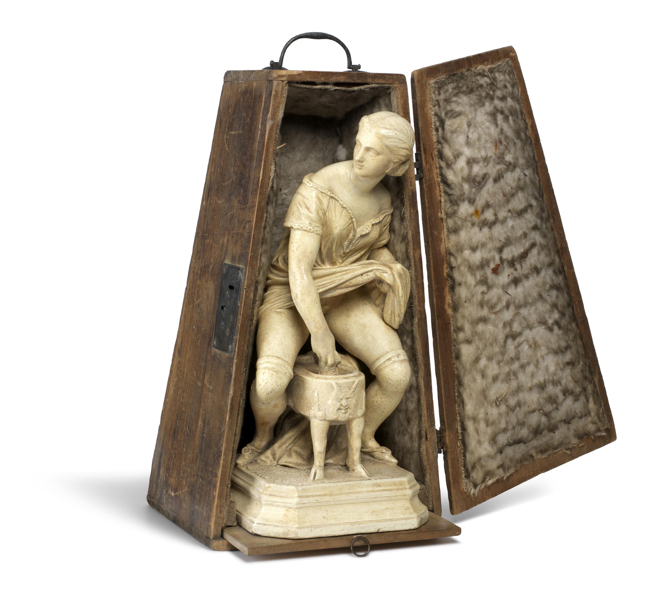 Voyeuristic figurine