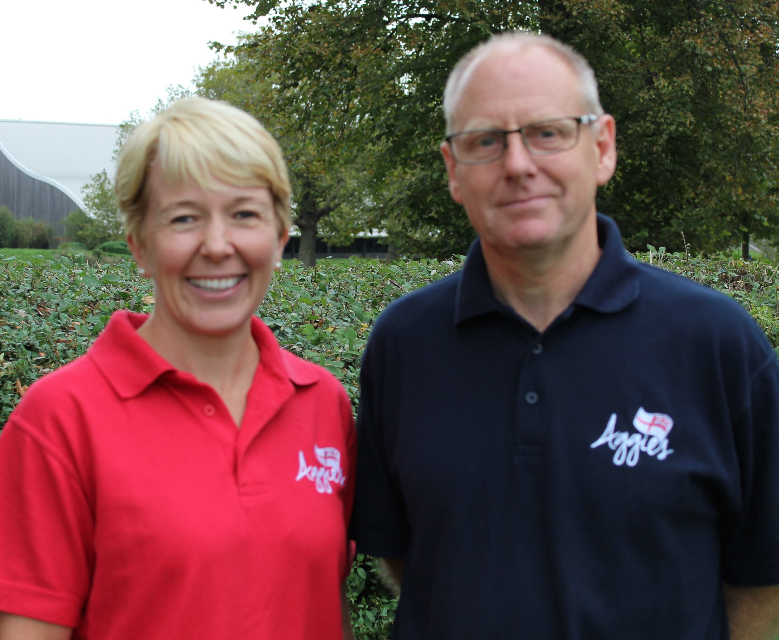 Aggie's Pastoral Worker Alex Watts and Operations Manager John Bazley