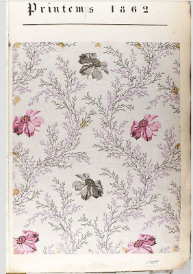 Fabric sample, France 19th century. From Textile Collection, Metropolitan Museum, New York, NY