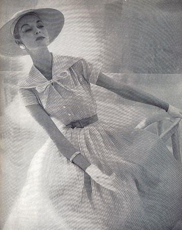 shirtwaist dress addie masters 1955 cotton organdy.png