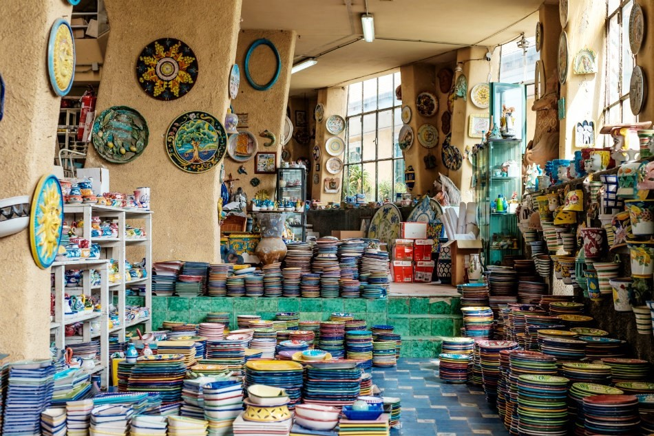 Vietri Sul Mare, Ceramics Shop, Interior