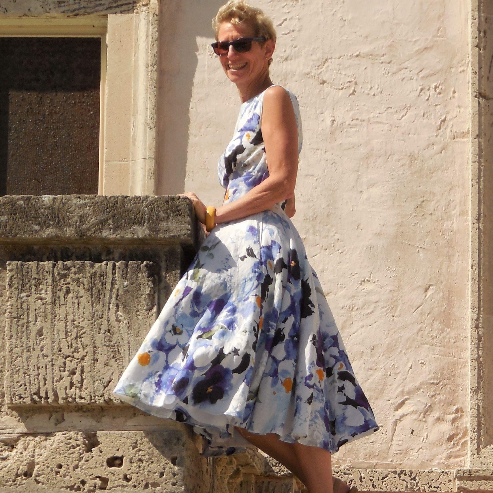 Anikka Becker. Amalfi Print Linen Dress.JPG